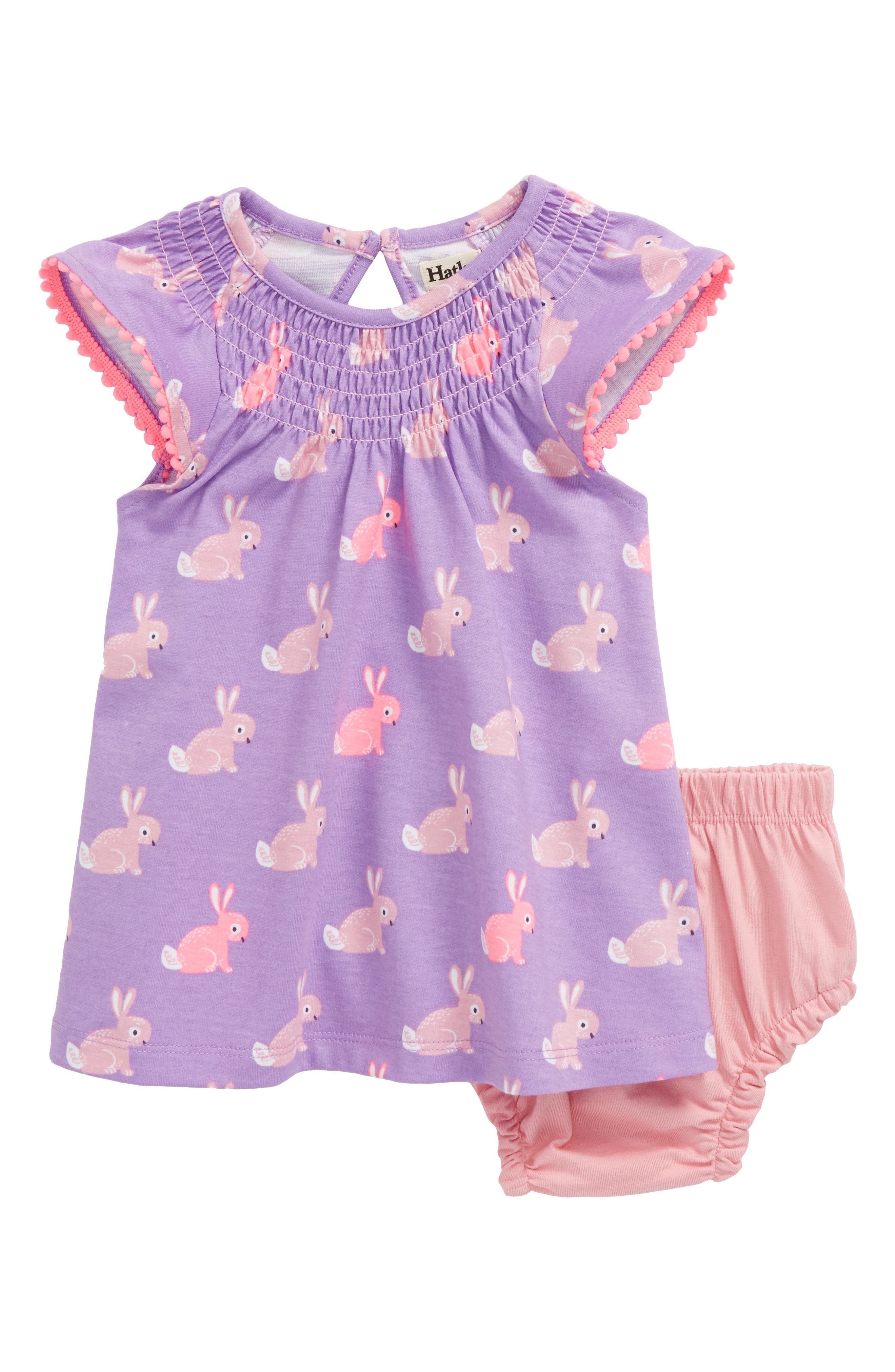 Smocked Dress,                         Main,                         color, Cottontail