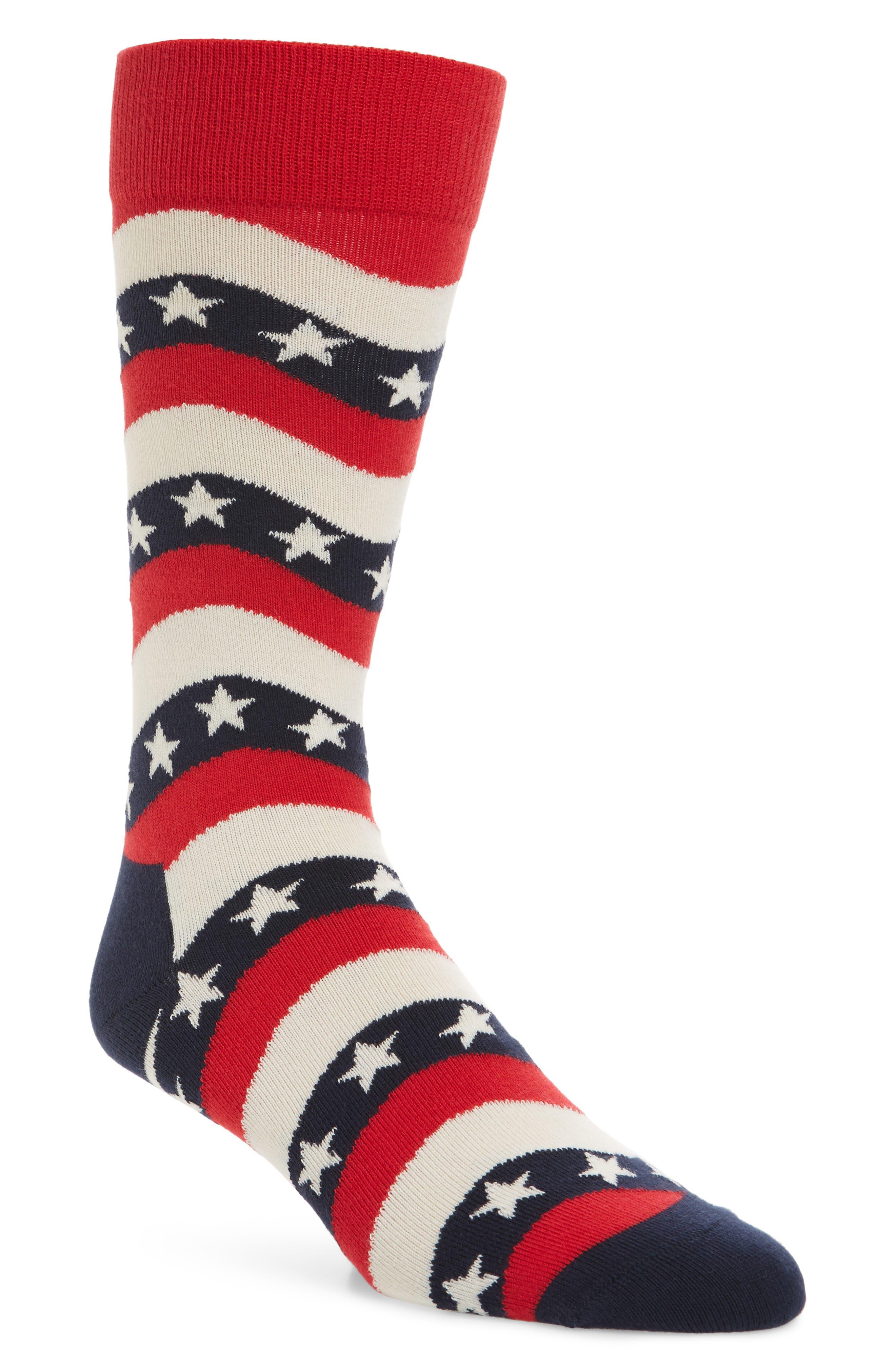 Wavy Socks,                             Main thumbnail 1, color,                             Navy Multi