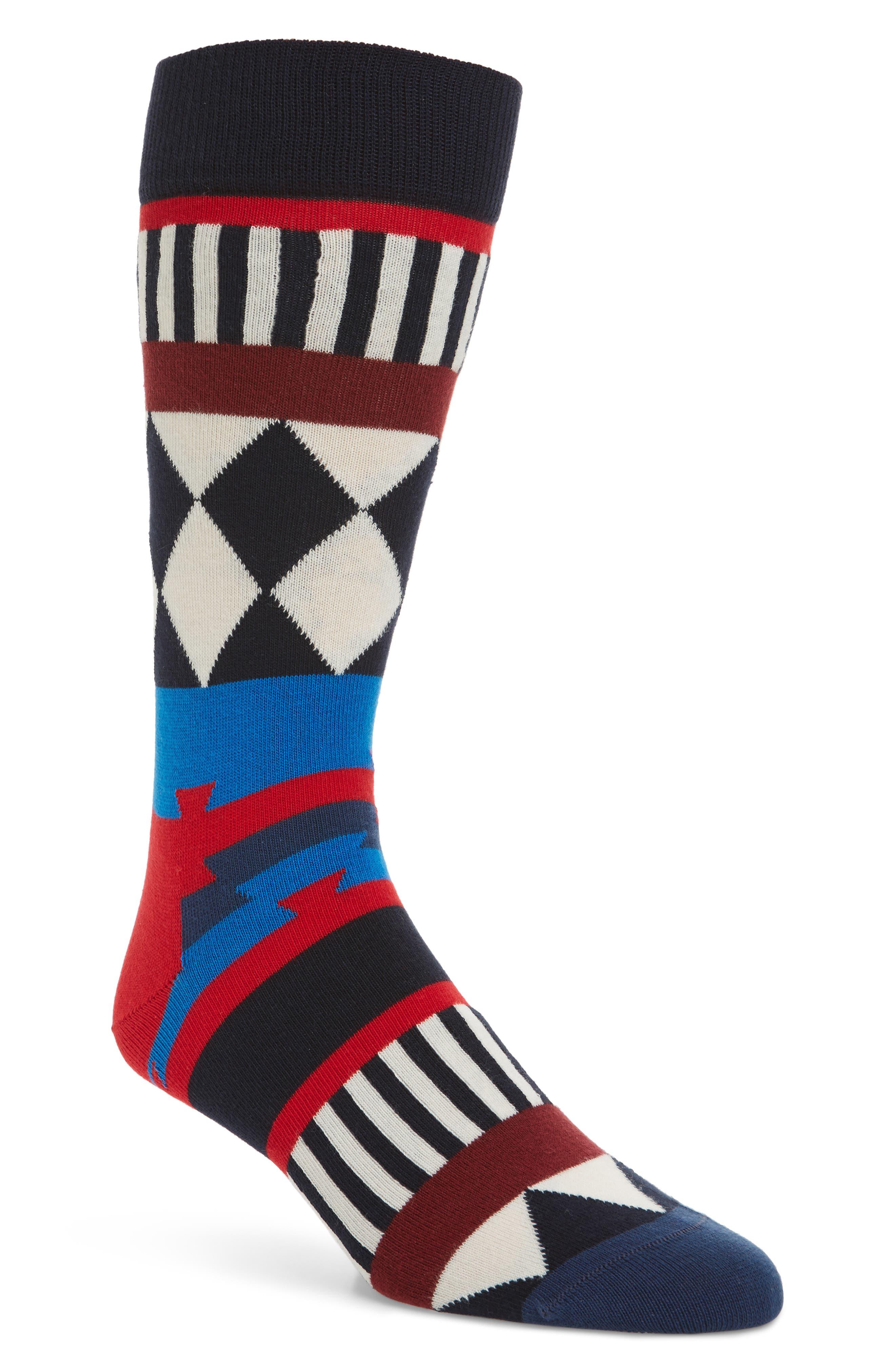 Disco Tribe Socks,                         Main,                         color, Red Multi