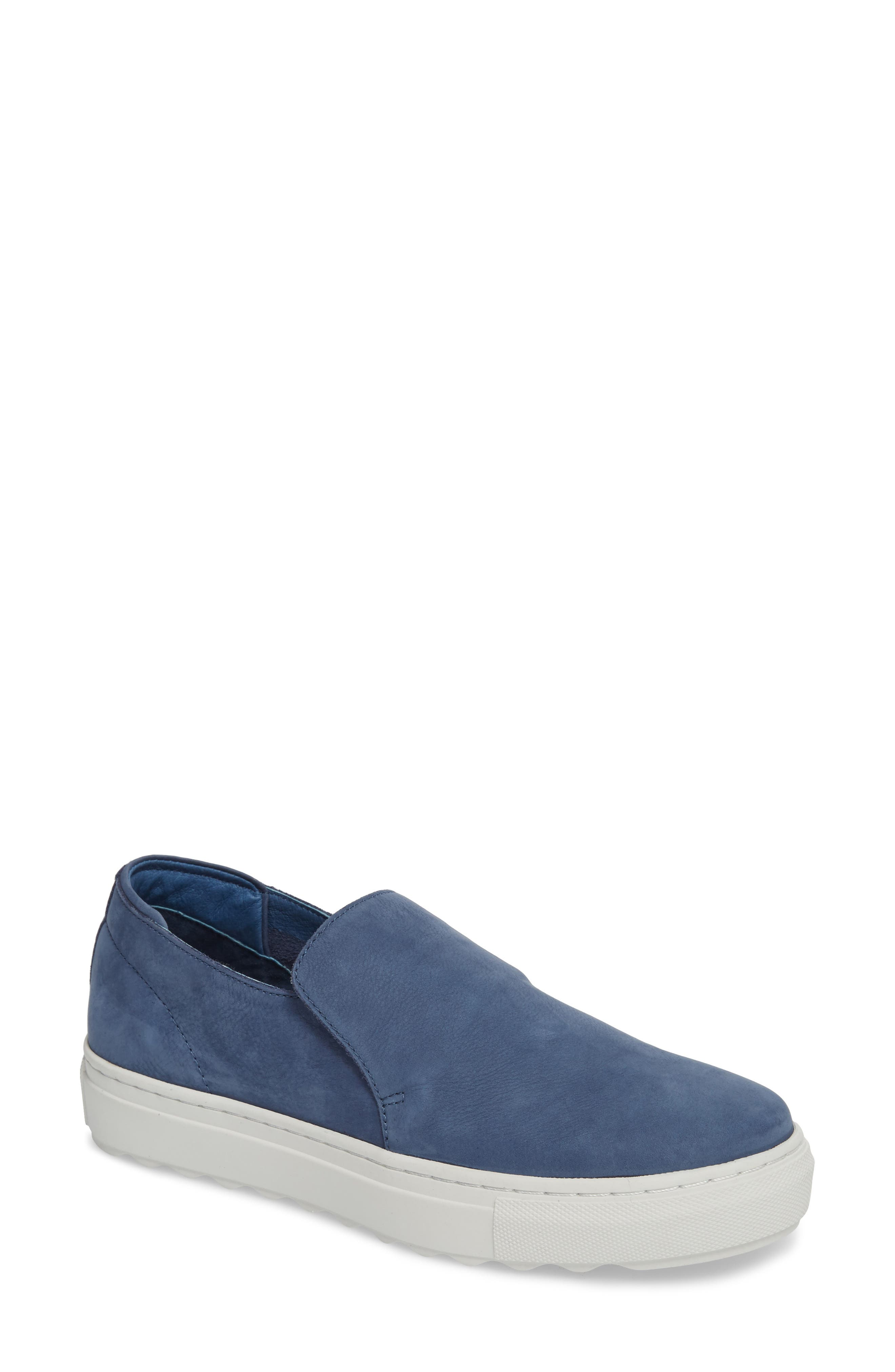 Perrie Platform Slip-On,                             Main thumbnail 1, color,                             Denim Suede