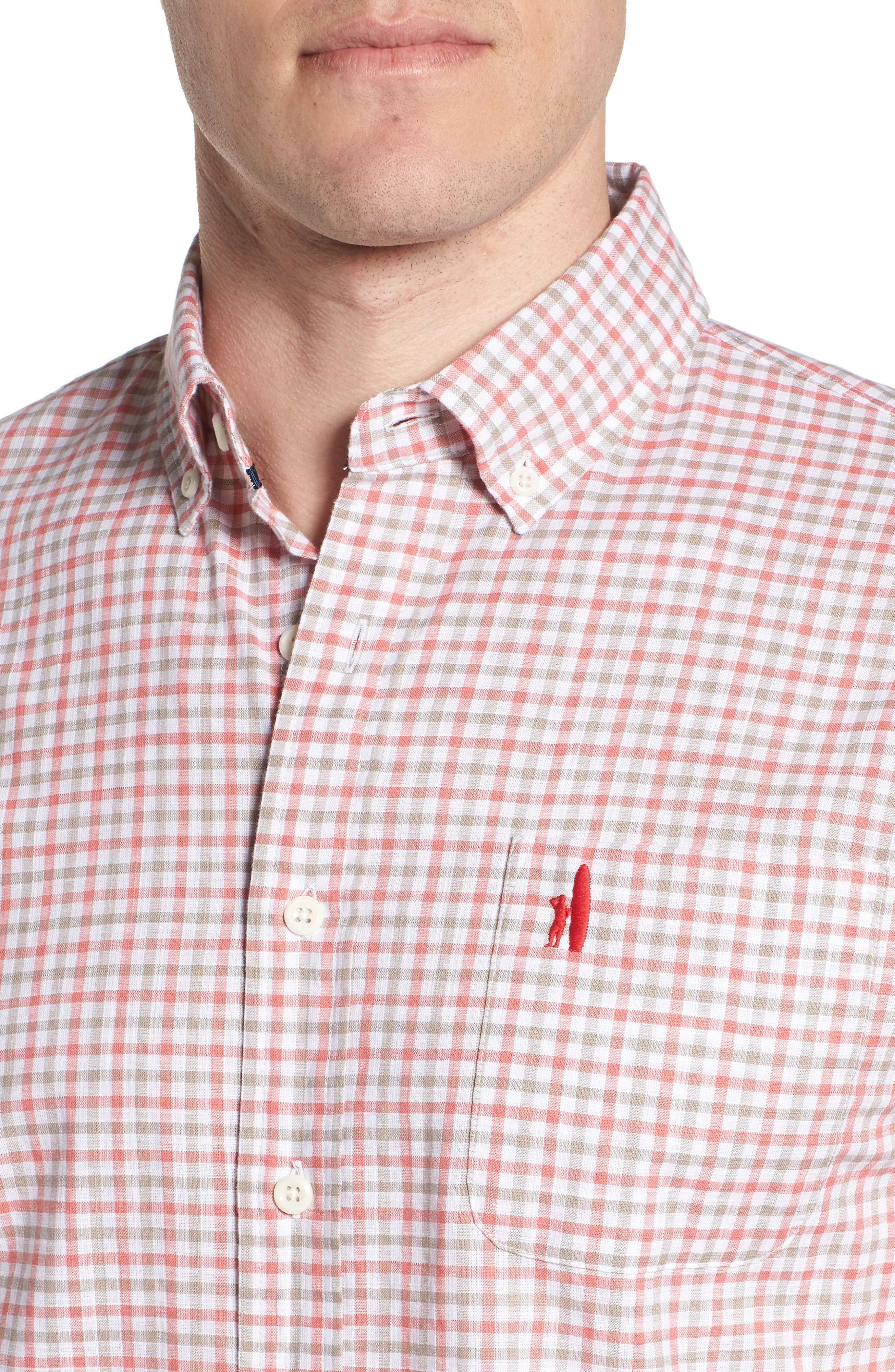 Driscoll Regular Fit Sport Shirt,                             Alternate thumbnail 2, color,                             Malibu Red