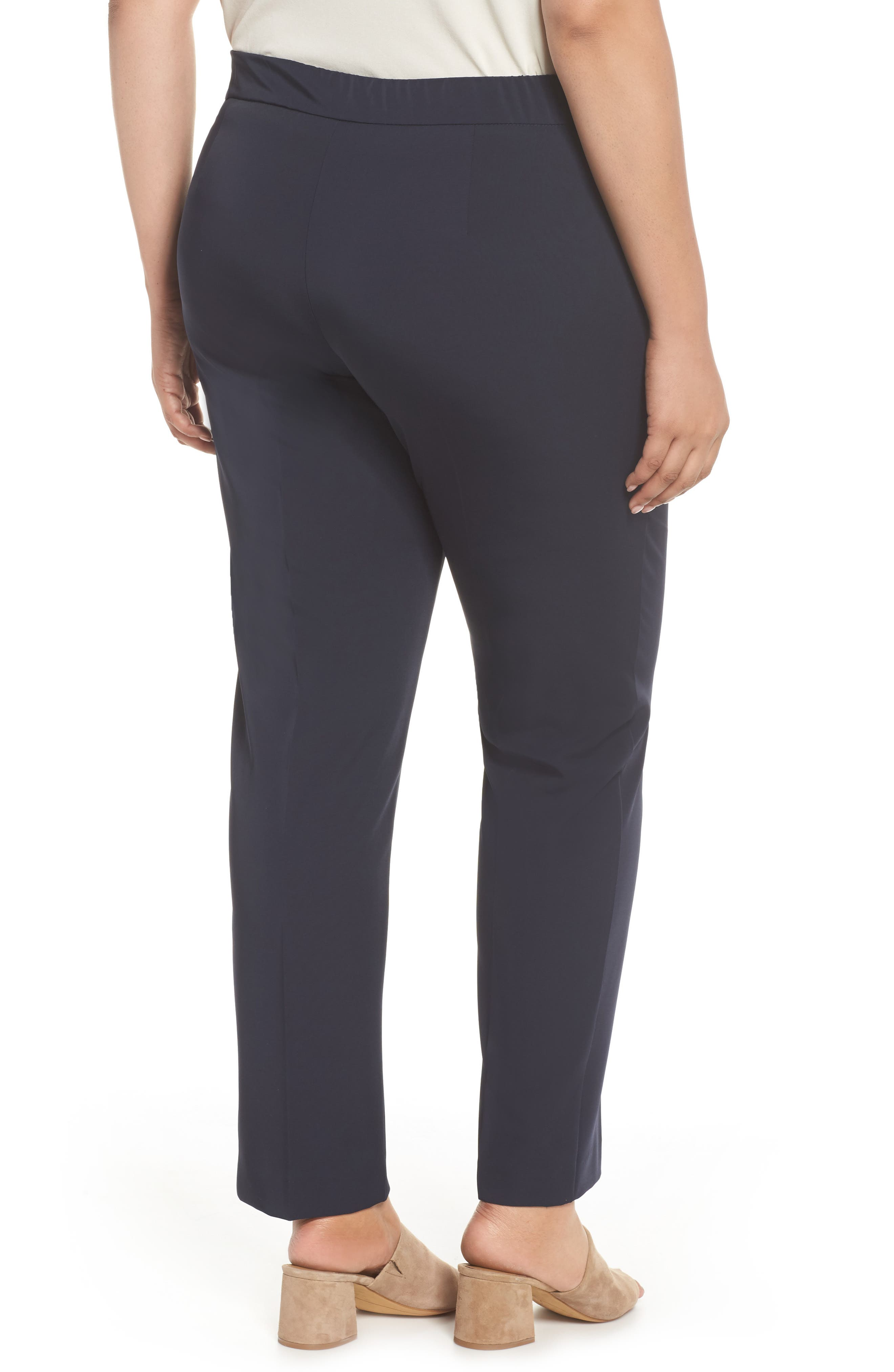 Slim Leg Pants,                             Alternate thumbnail 2, color,                             Dark Navy