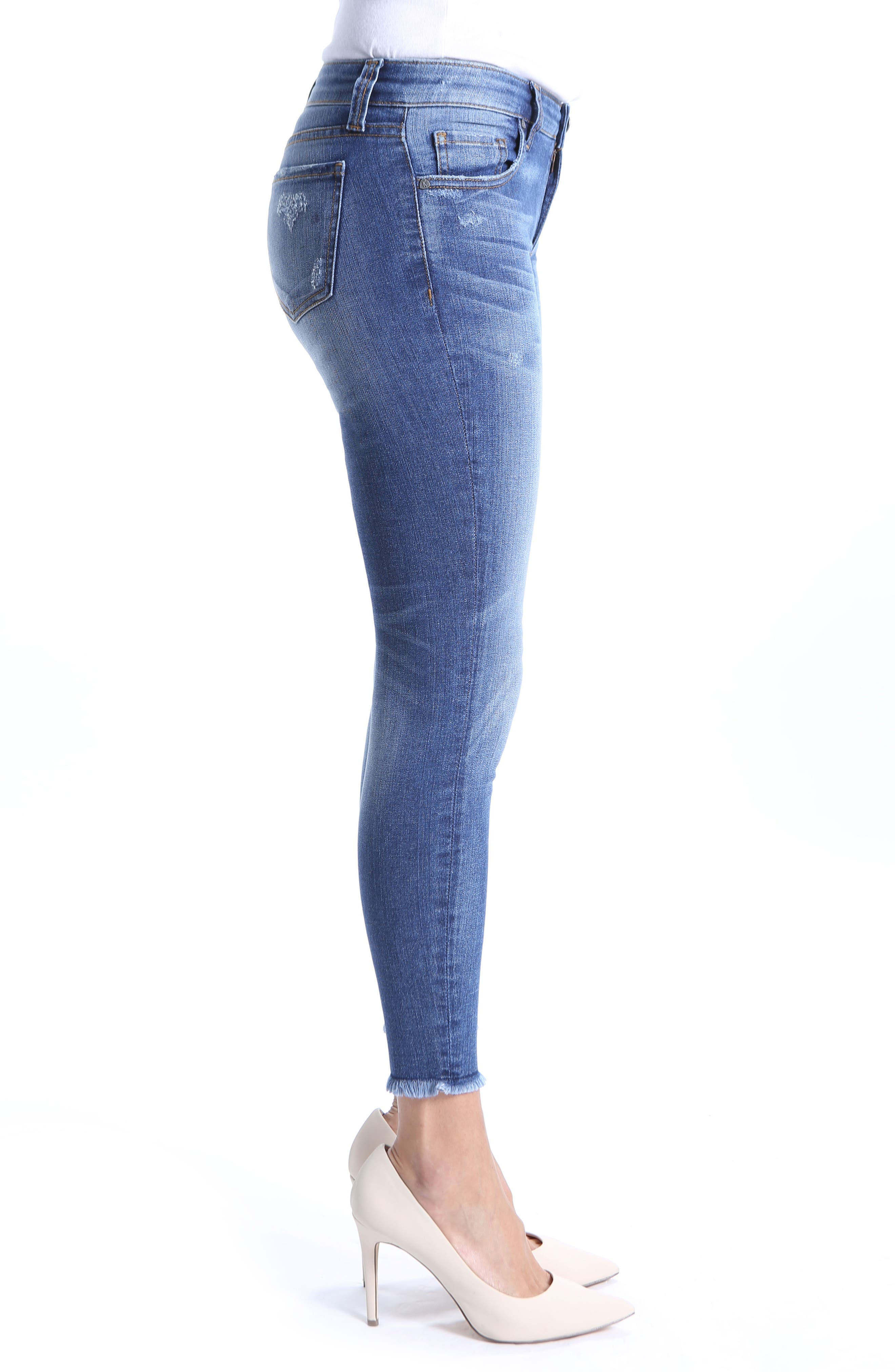 Connie Skinny Ankle Jeans,                             Alternate thumbnail 3, color,                             Guileless