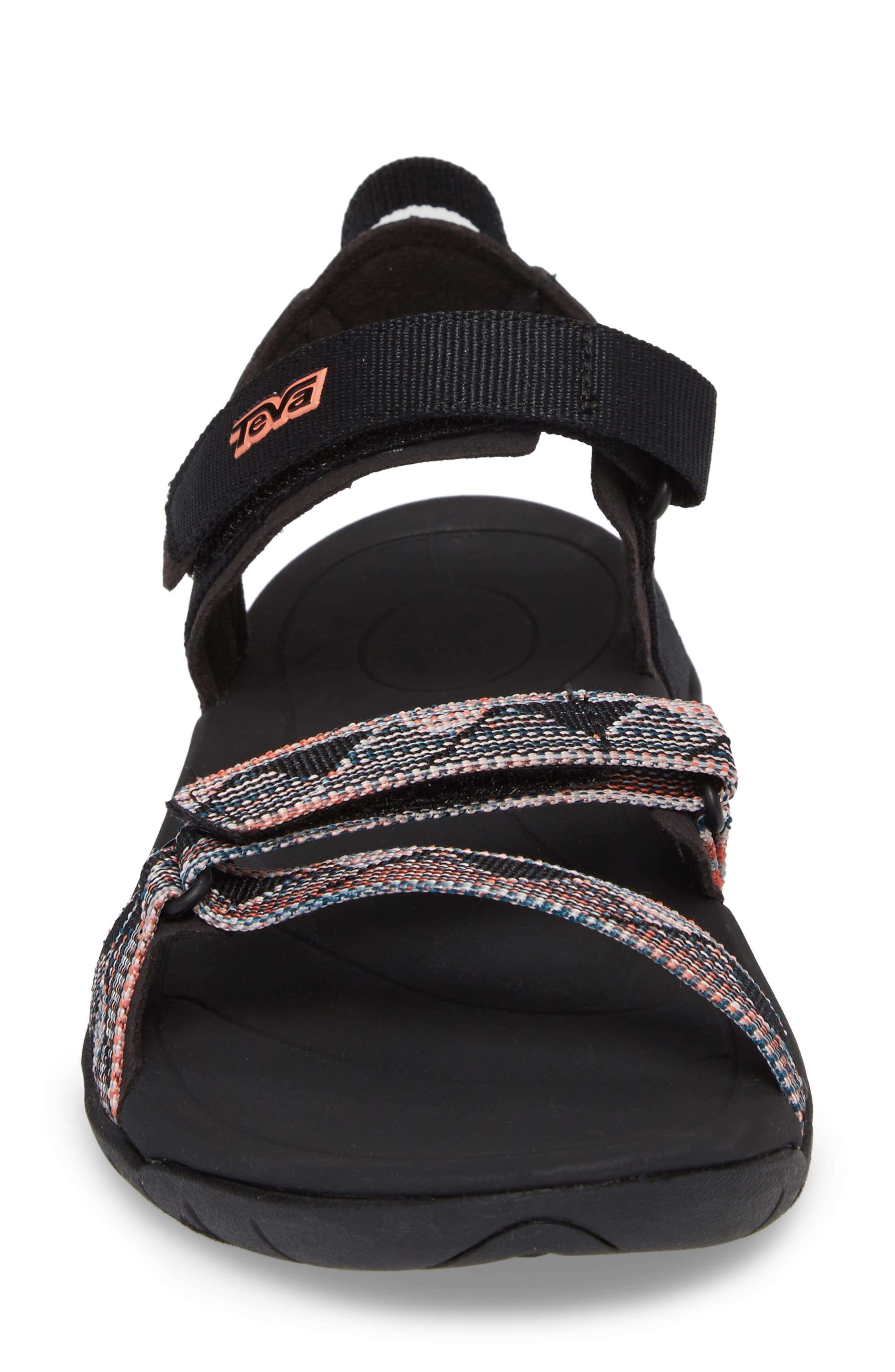 'Verra' Sandal,                             Alternate thumbnail 4, color,                             Suri Black Multi