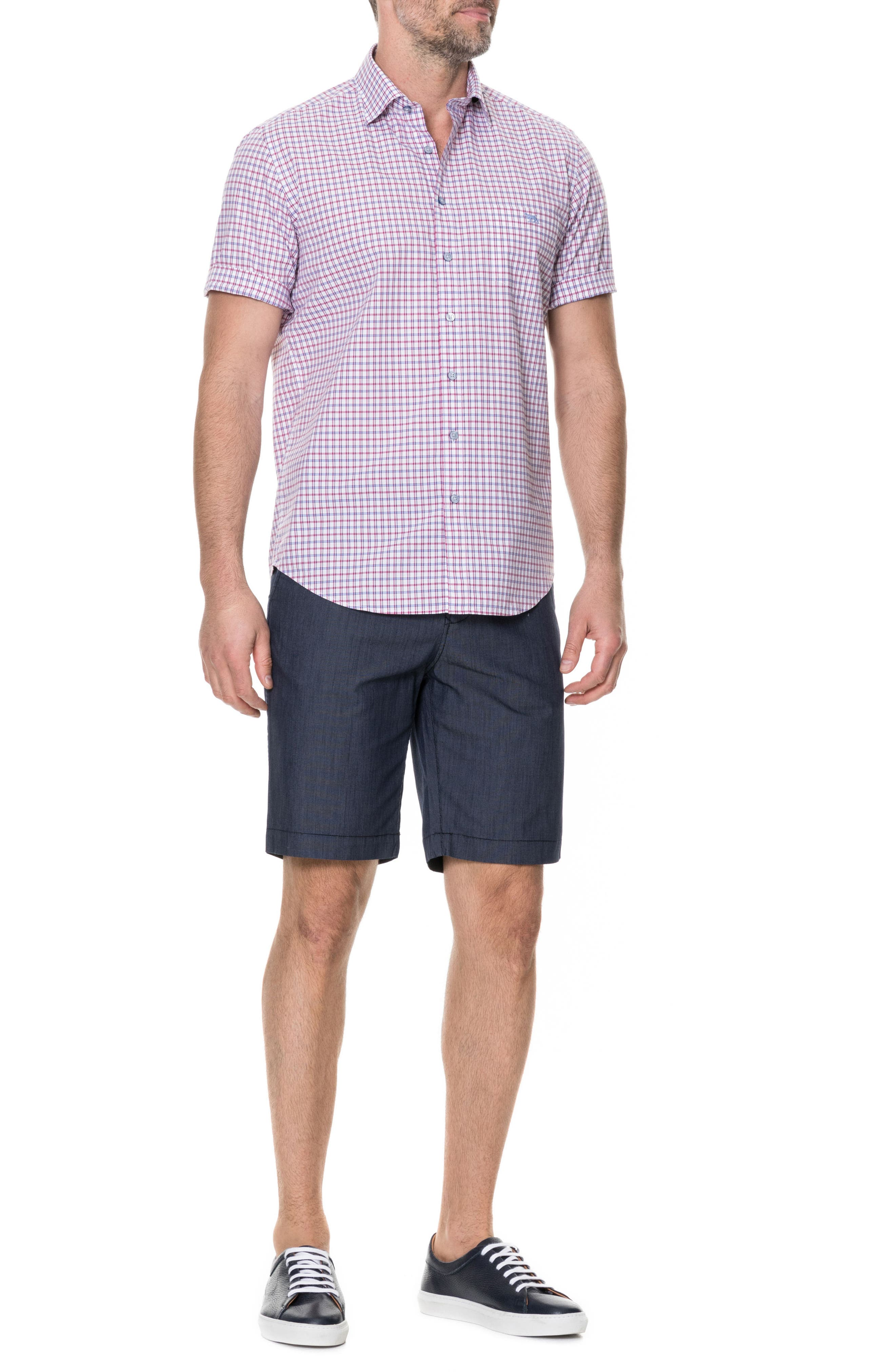 Waterford Regular Fit Sport Shirt,                             Alternate thumbnail 5, color,                             Mulberry