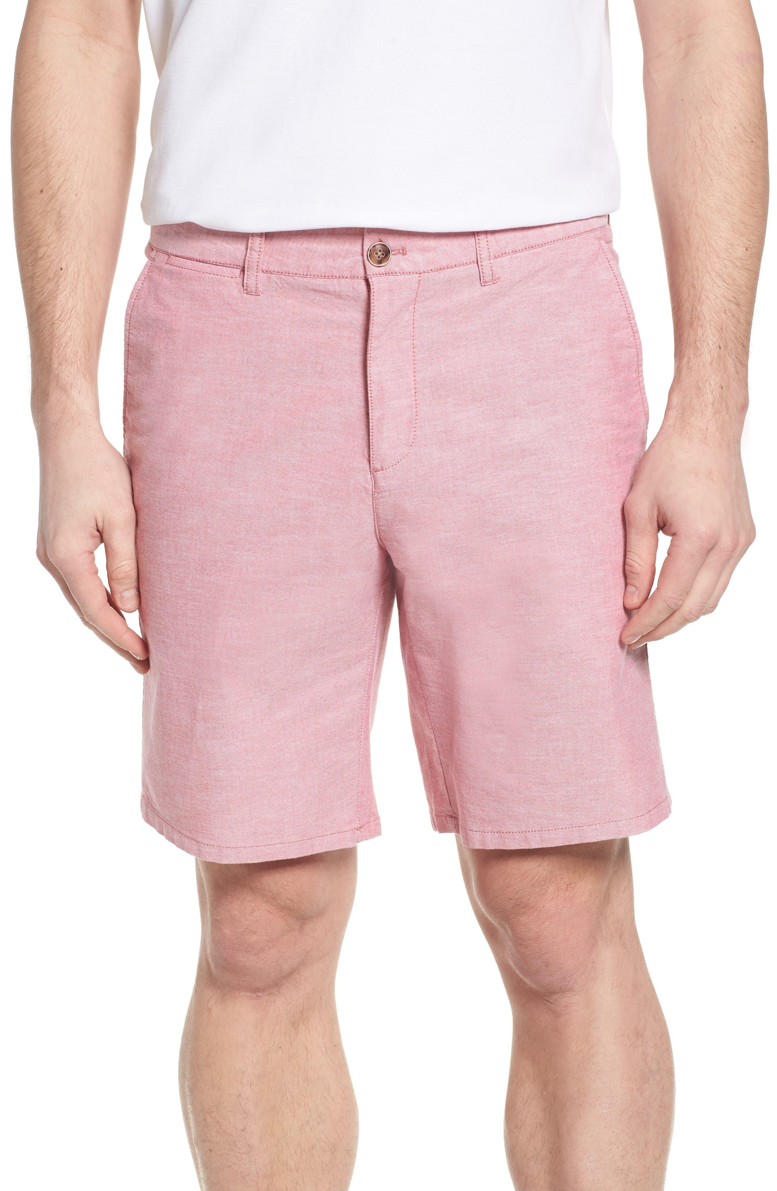 Merritt Regular Fit Shorts,                         Main,                         color, Malibu Red