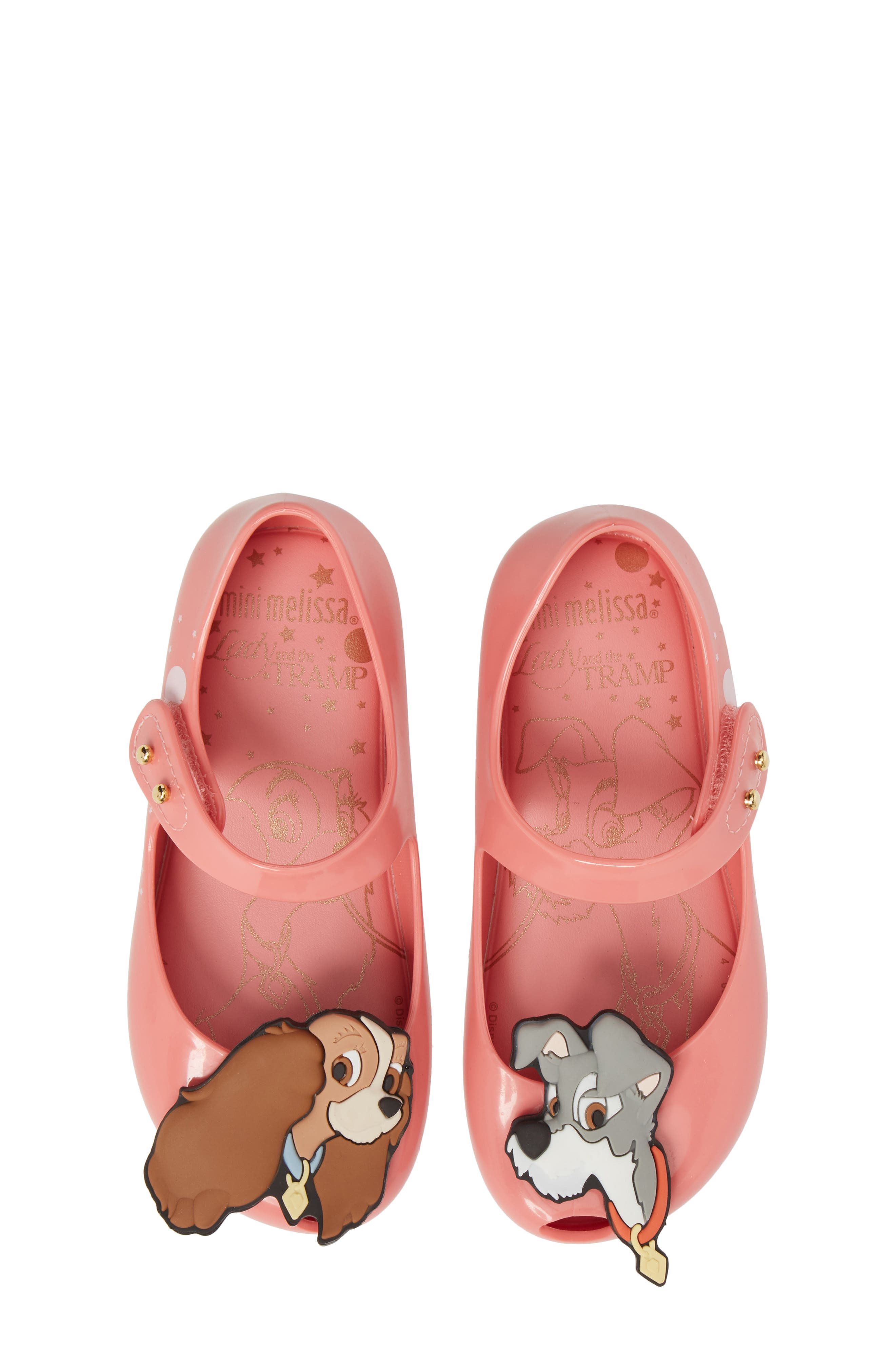 Mini Melissa Disney® Lady & the Tramp Mini Ultragirl Flat (Walker & Toddler)