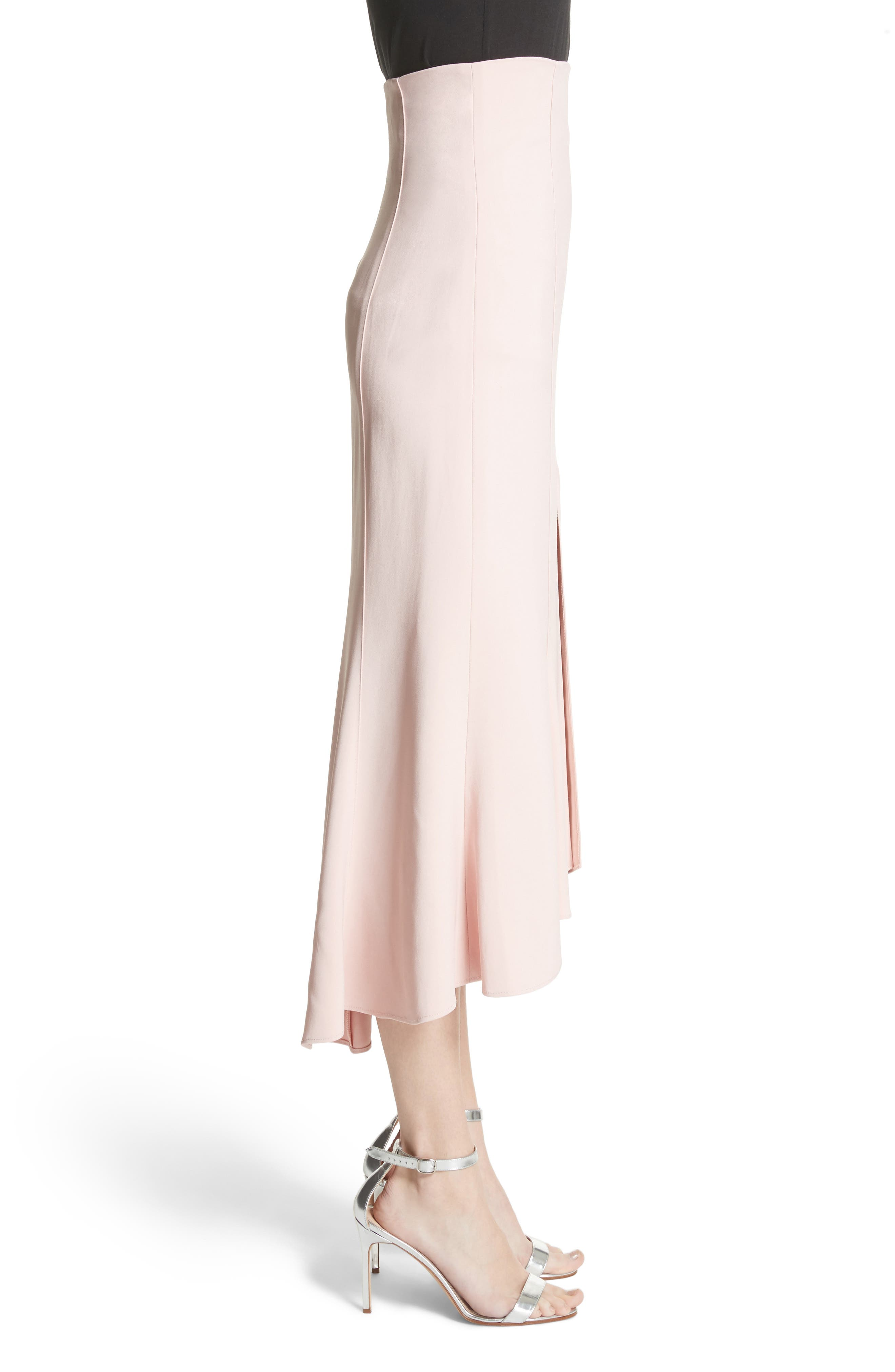 High Waist Midi Skirt,                             Alternate thumbnail 3, color,                             Cosmetic Pink