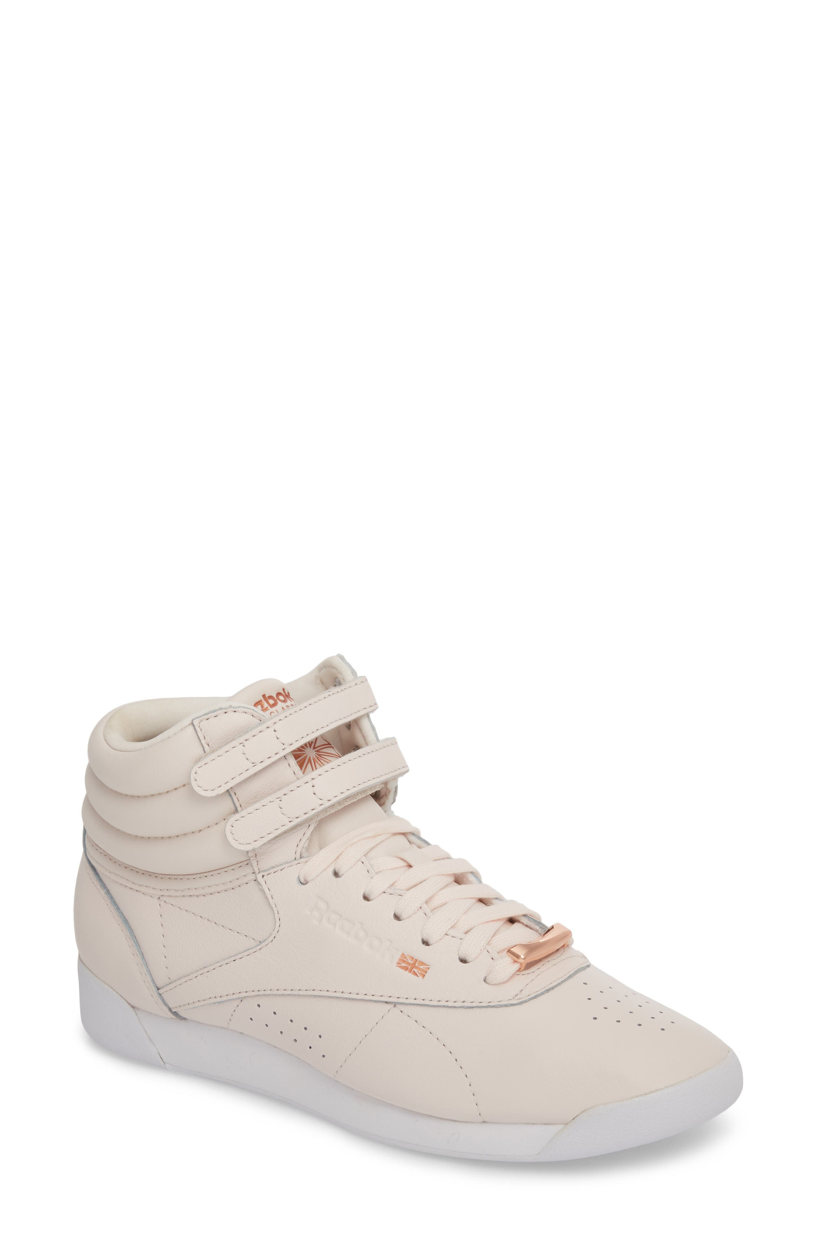 Freestyle Hi Muted Sneaker,                             Main thumbnail 1, color,                             Pale Pink/ White/ Cool Shadow