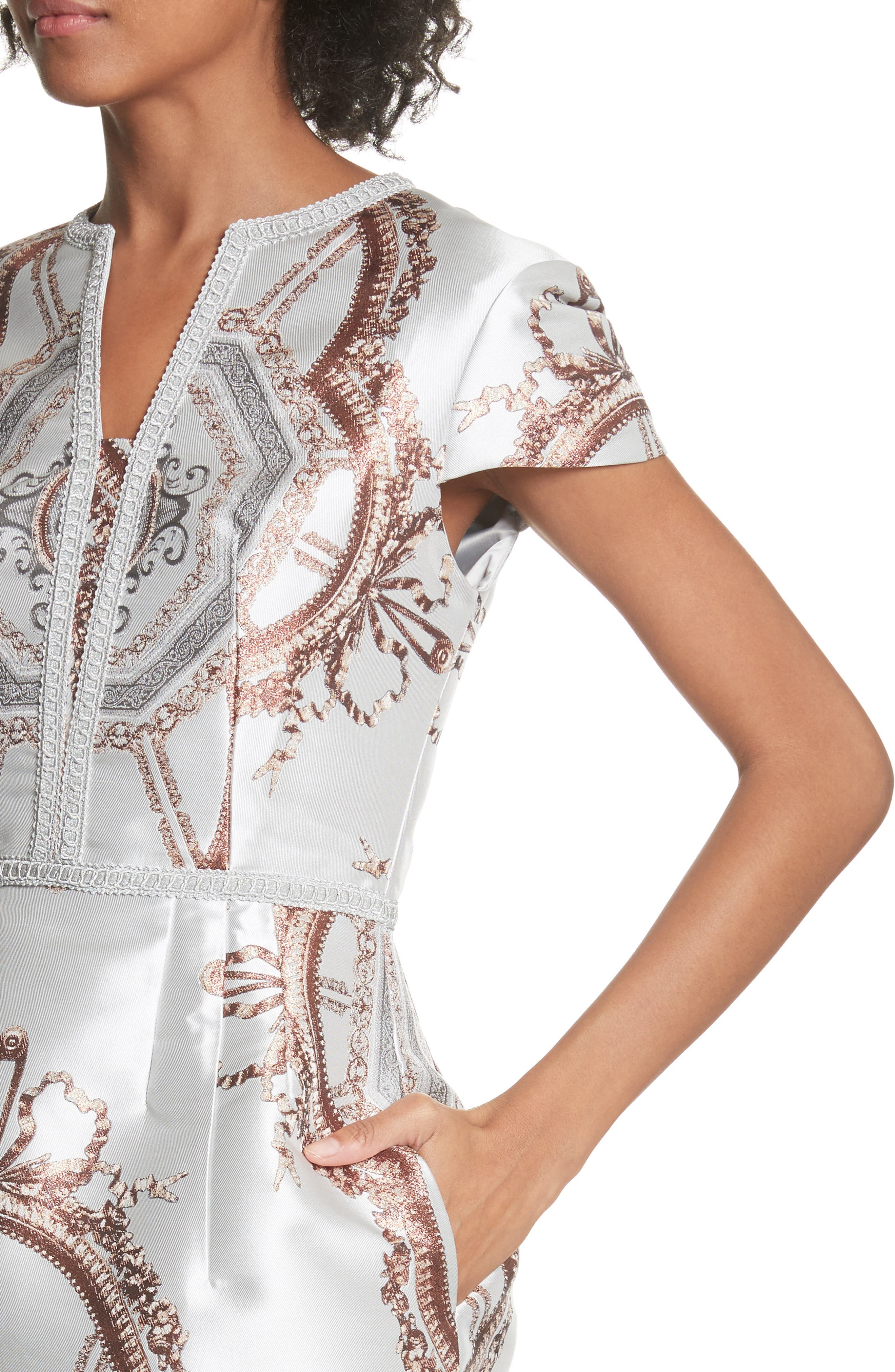 Versailles Dress,                             Alternate thumbnail 4, color,                             White
