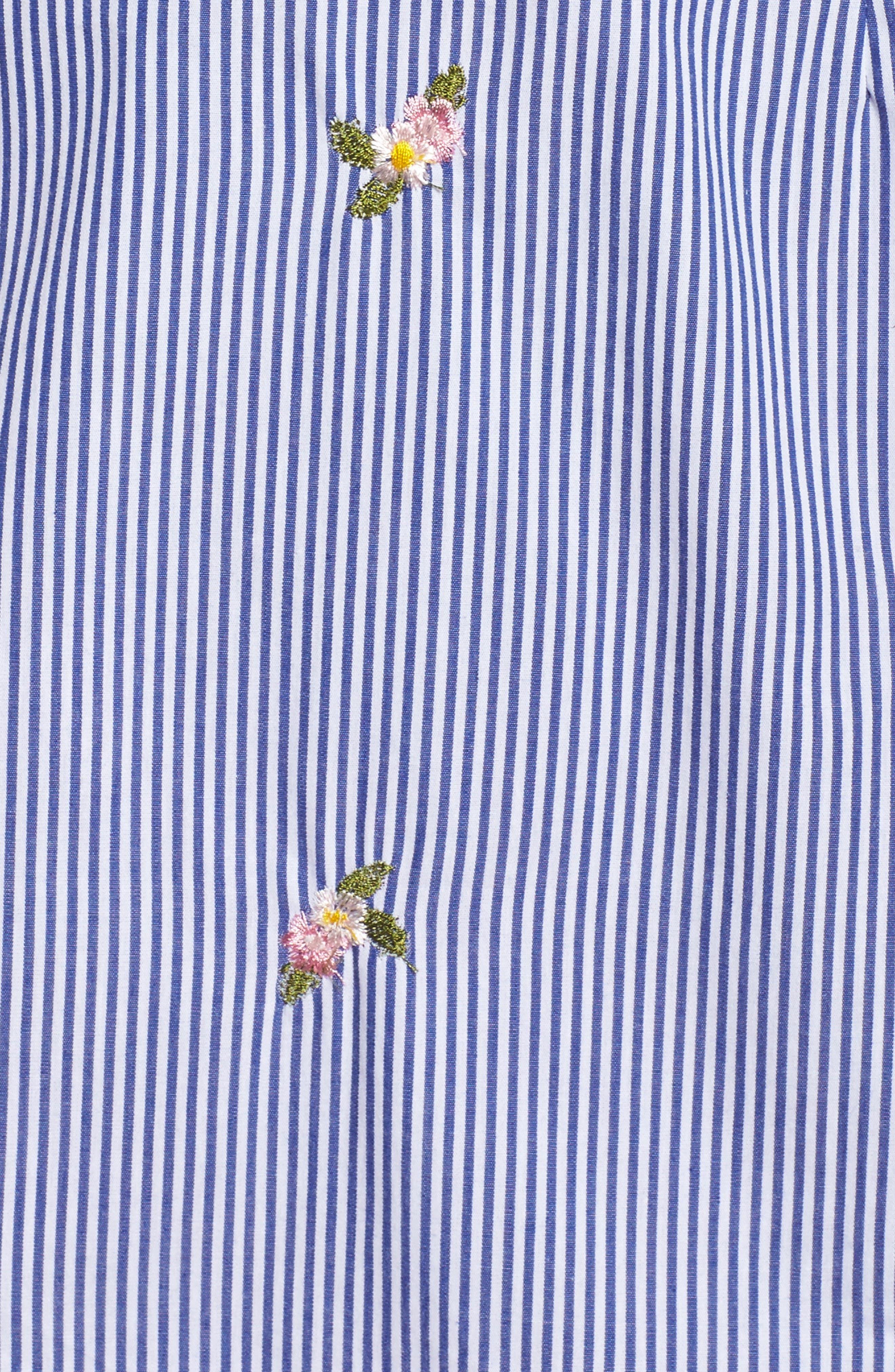 Stripe Bow Front Sundress,                             Alternate thumbnail 6, color,                             Blue/ White