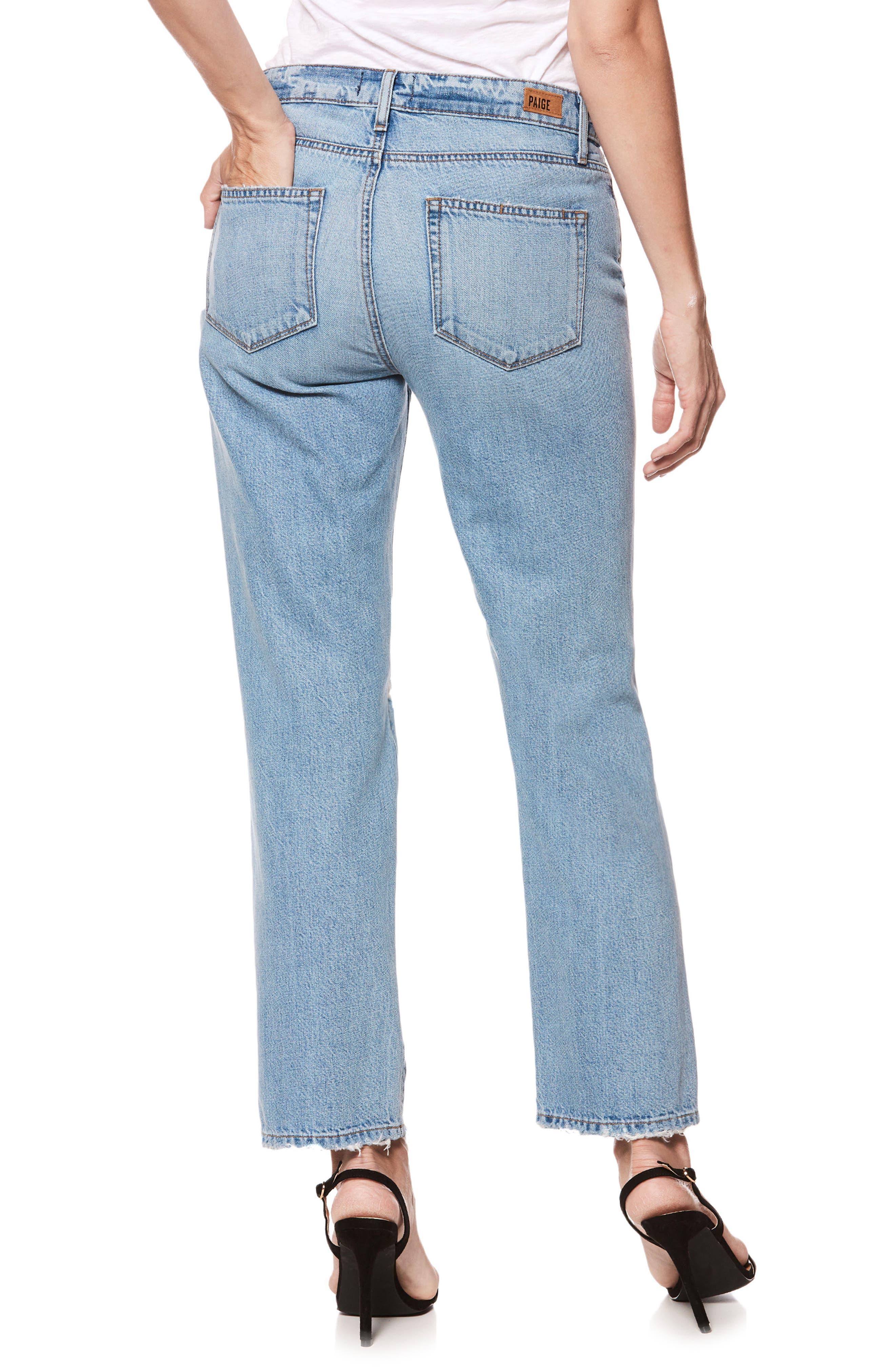 Noella Ripped Straight Leg Jeans,                             Alternate thumbnail 3, color,                             Jovie Destructed
