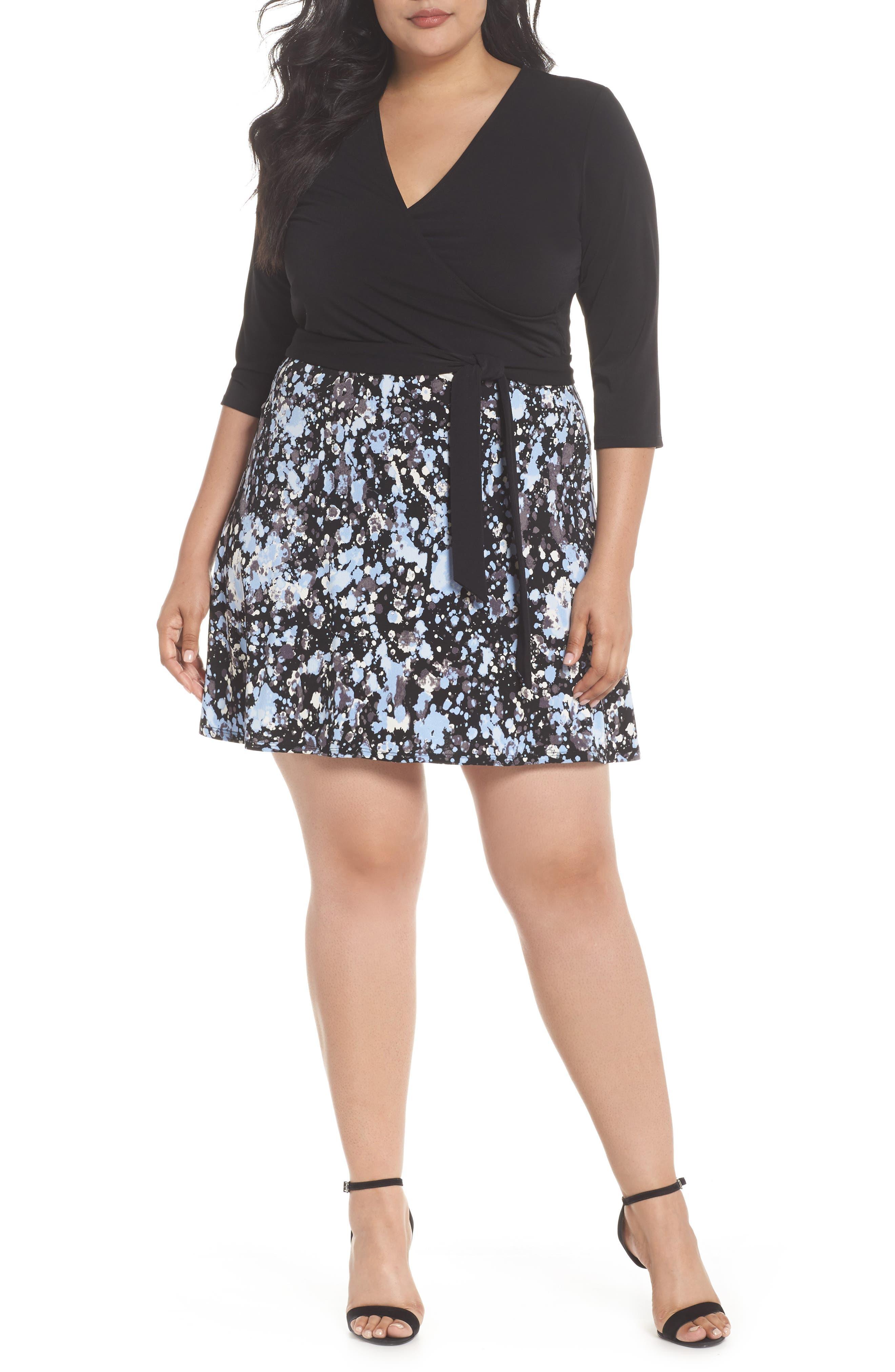Faux Wrap Dress,                         Main,                         color, Modern