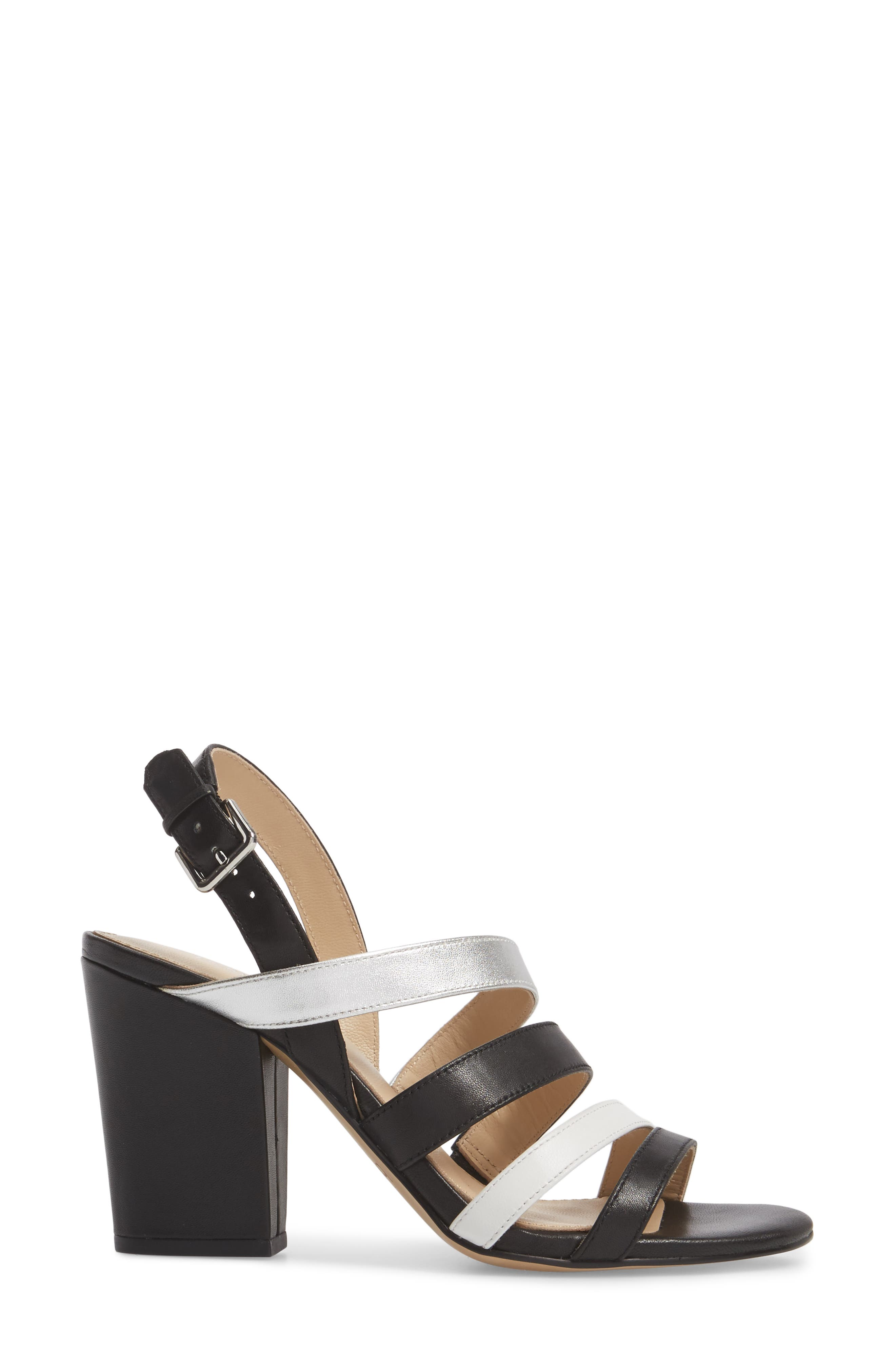 Sera Sandal,                             Alternate thumbnail 3, color,                             Black Multi Leather