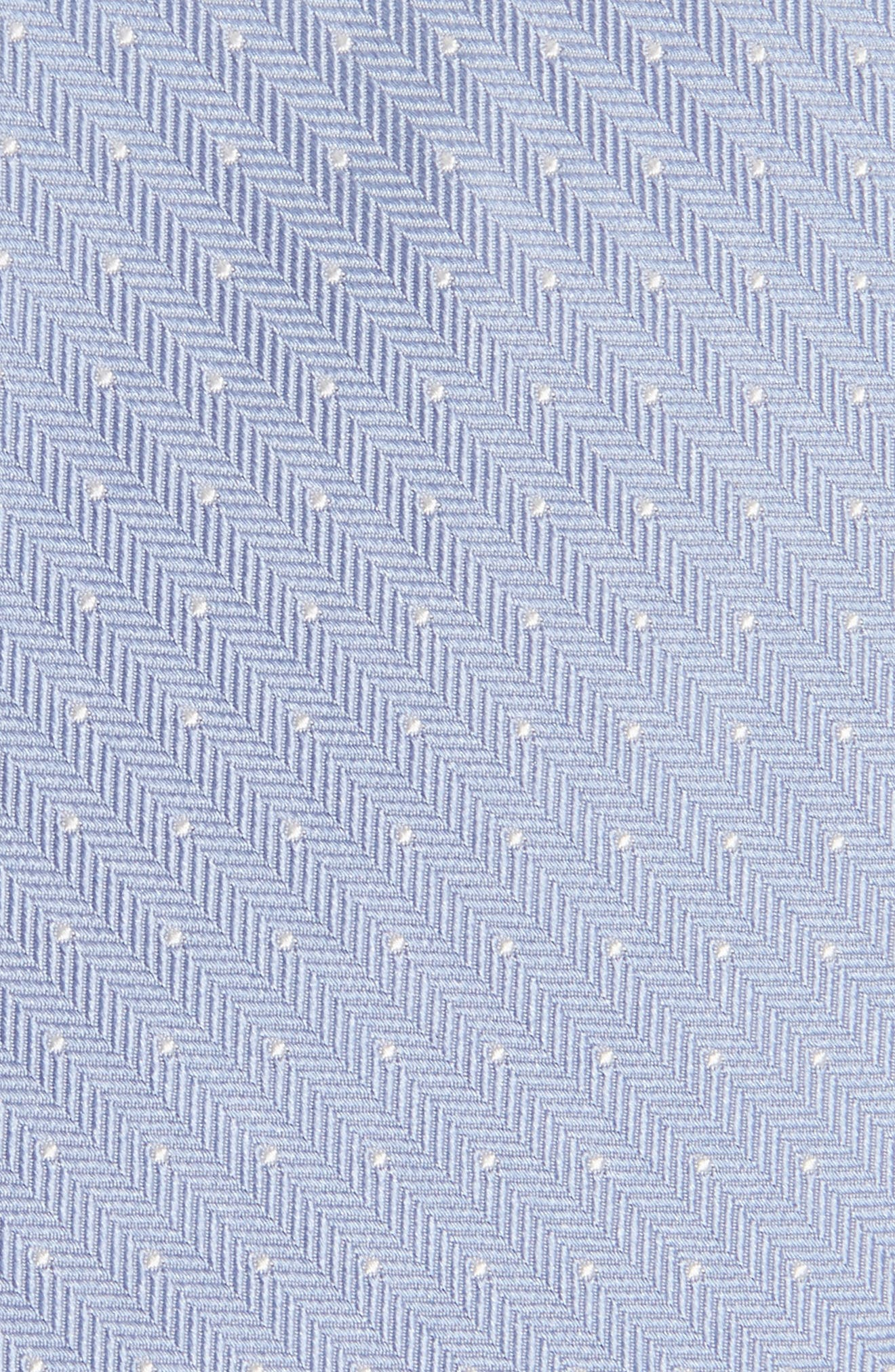 Herringbone Dot Silk Tie,                             Alternate thumbnail 2, color,                             Herringbone Dot Airy Blue