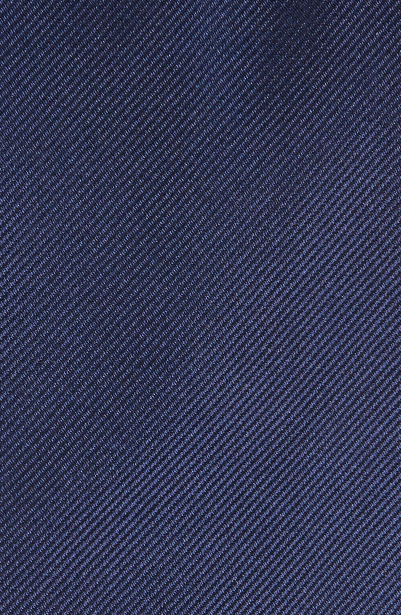 Solid Silk Tie,                             Alternate thumbnail 2, color,                             Officer Navy