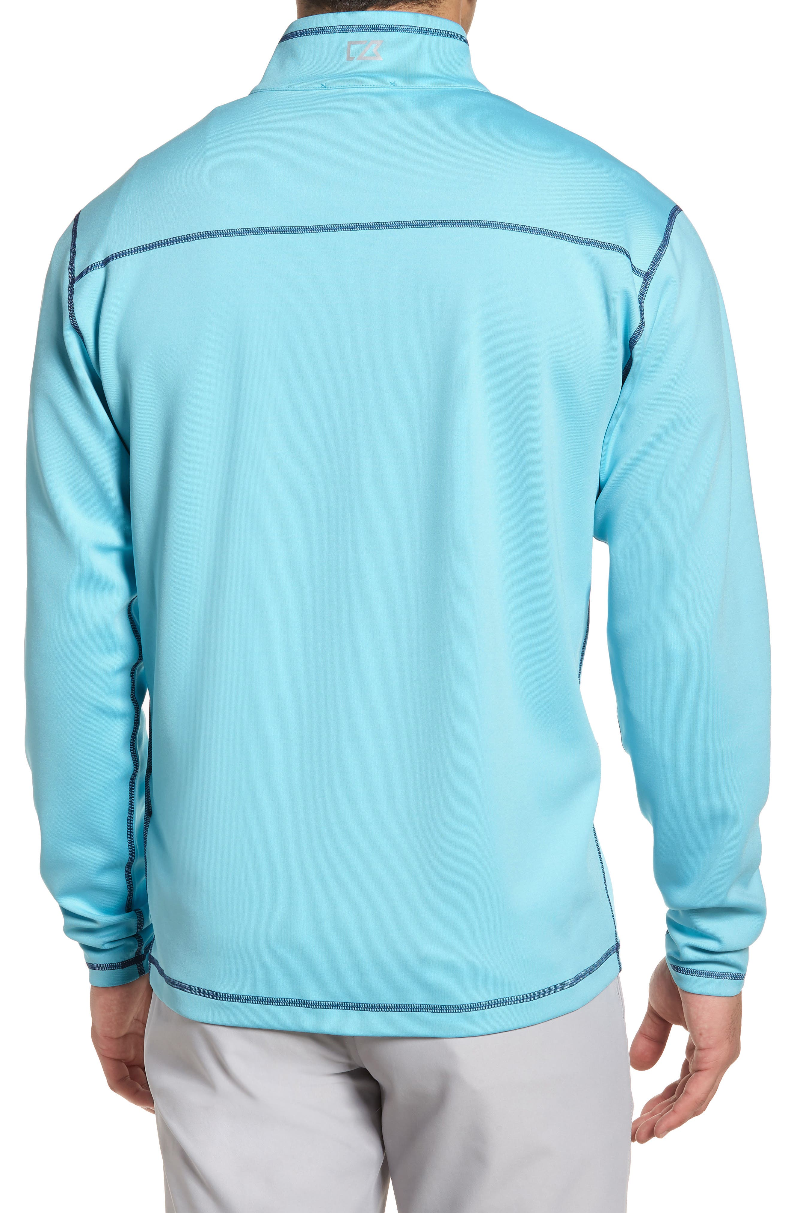 Alternate Image 2  - Cutter & Buck Evergreen Classic Fit DryTec Reversible Half Zip Pullover