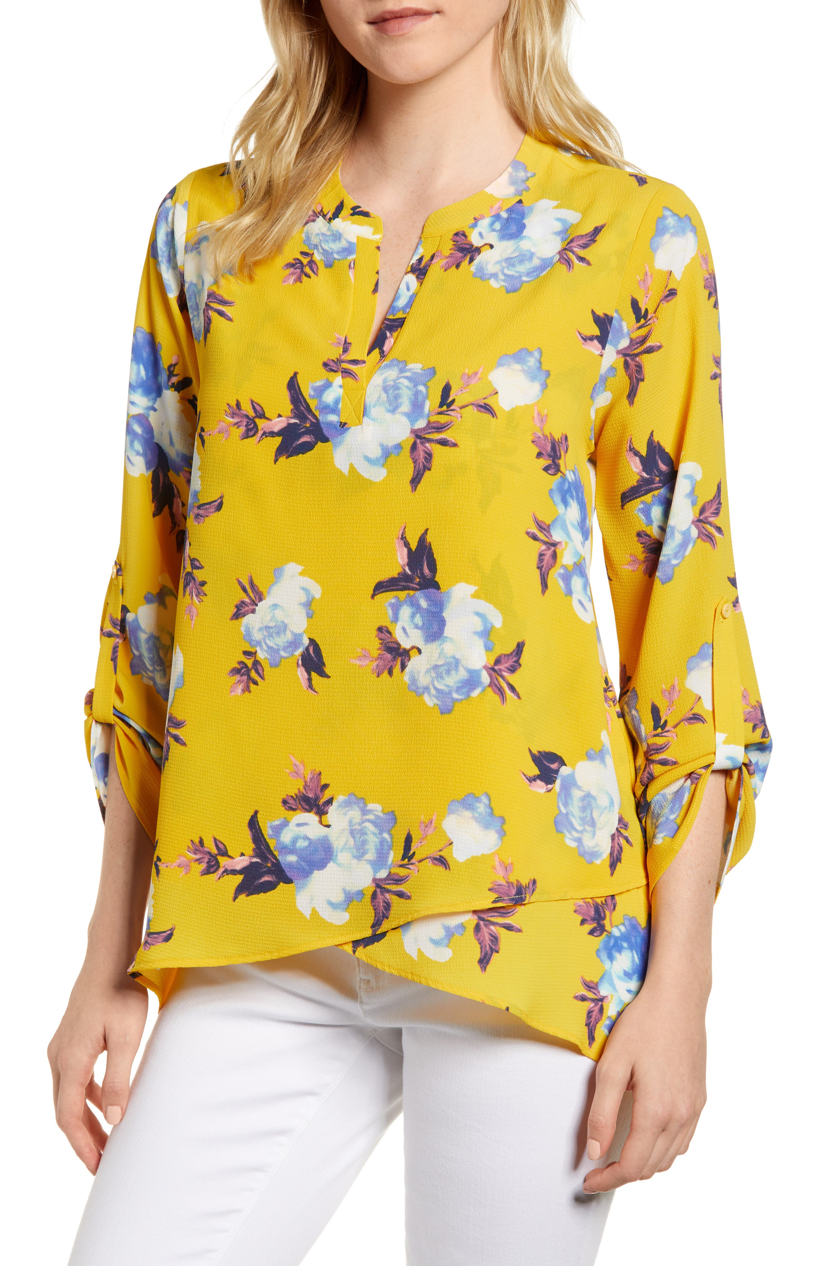 Gibson x Living in Yellow Erin Crossover Tunic (Regular & Petite) (Nordstrom Exclusive)