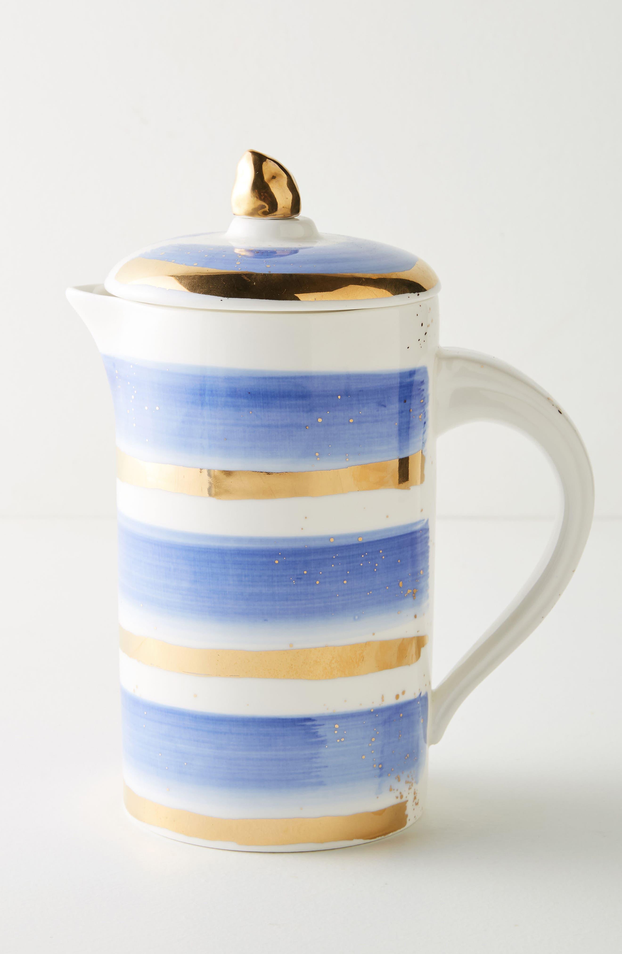 Mimira Stoneware French Press,                         Main,                         color, Blue Combo