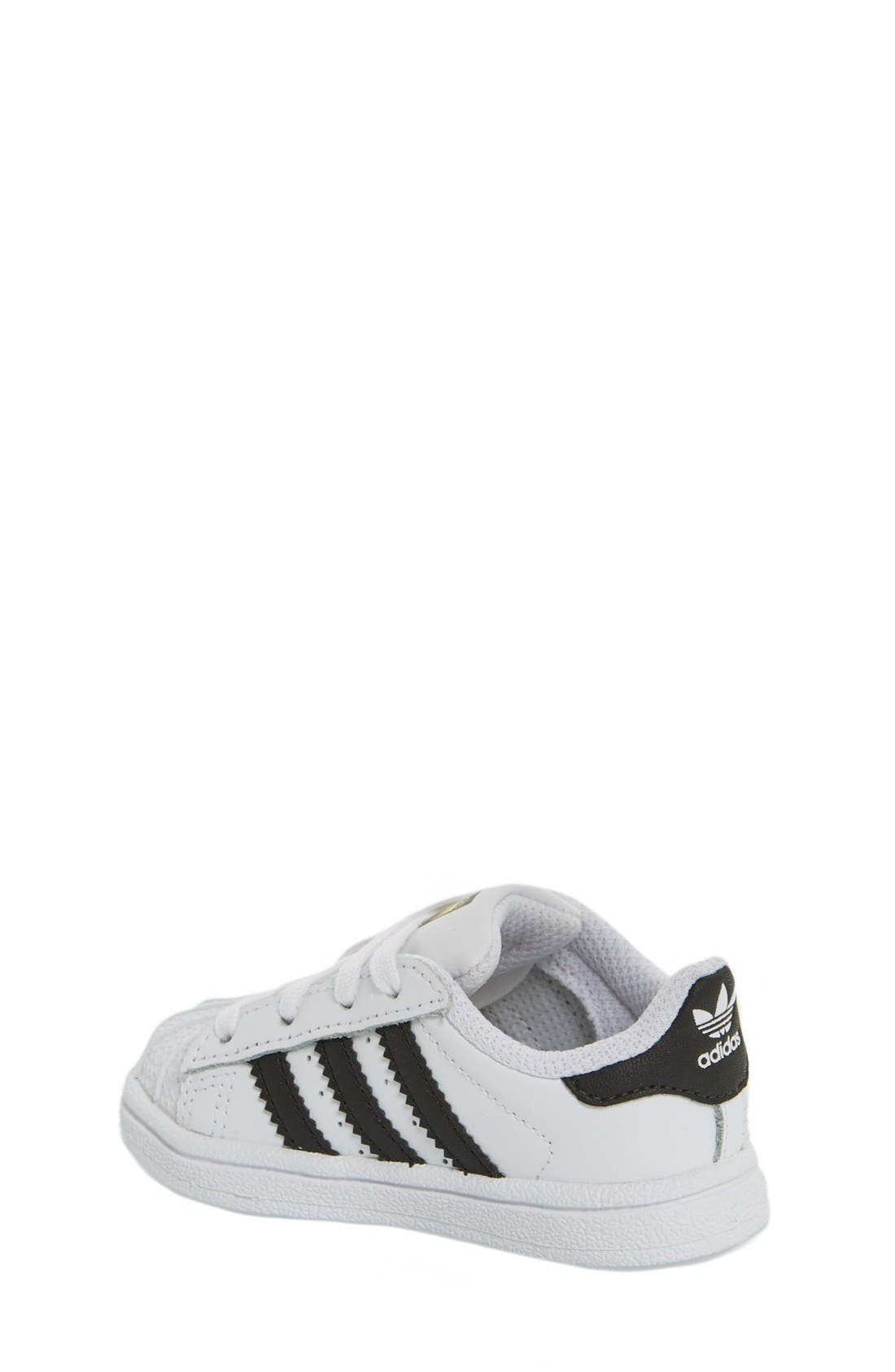 'Superstar' Sneaker,                             Alternate thumbnail 2, color,                             White/ Black