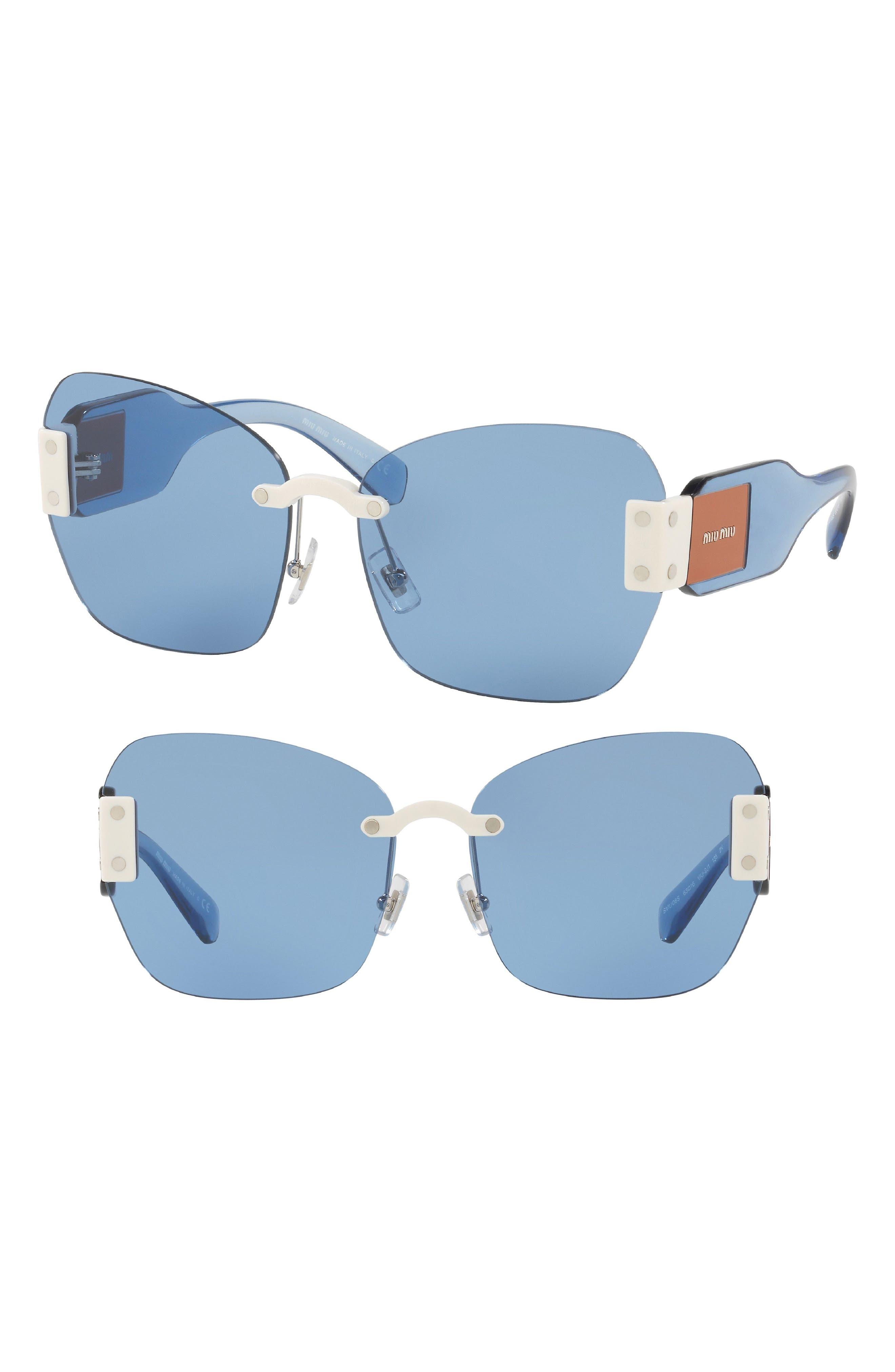 Miu Miu 63mm Rimless Sunglasses