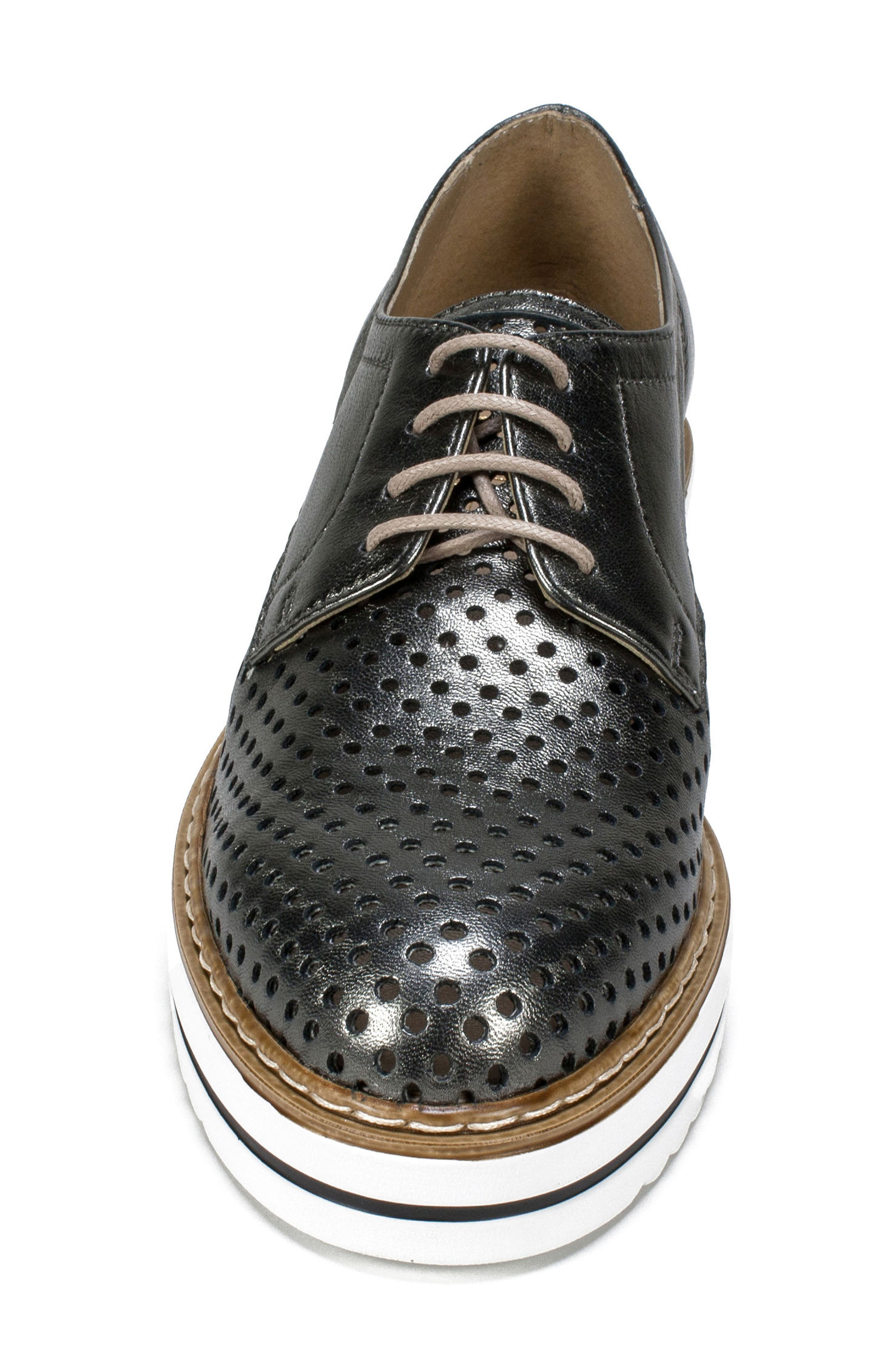 Bria Derby,                             Alternate thumbnail 4, color,                             Pewter Leather