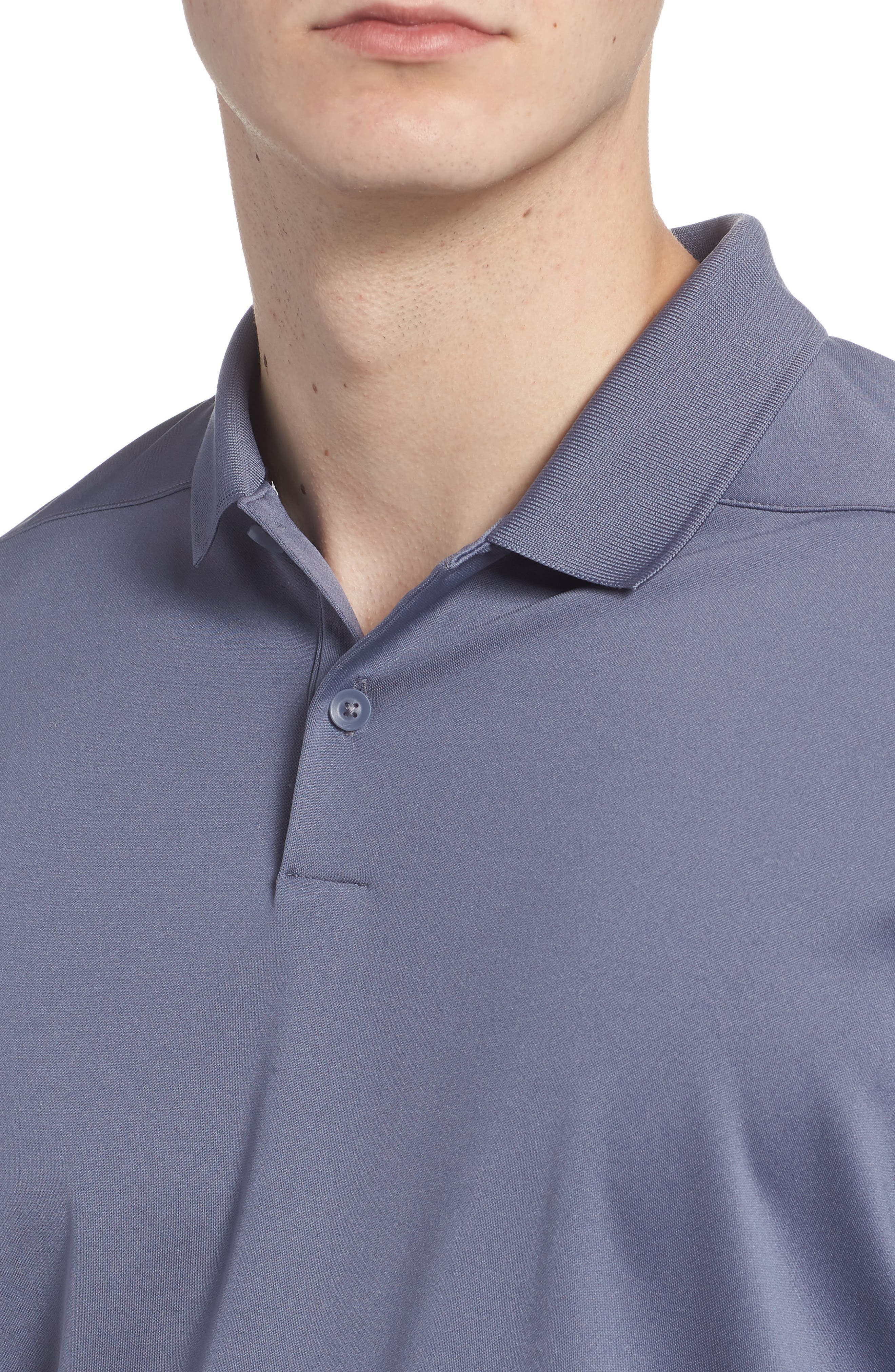 Dry Victory Golf Polo,                             Alternate thumbnail 4, color,                             Light Carbon/ Black