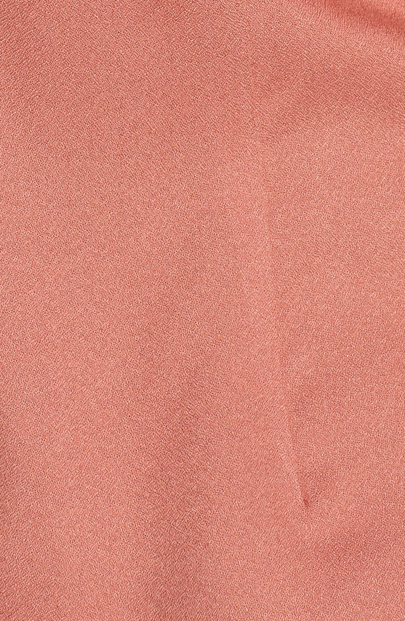 Tie Front Blouse,                             Alternate thumbnail 6, color,                             Coral Cedar