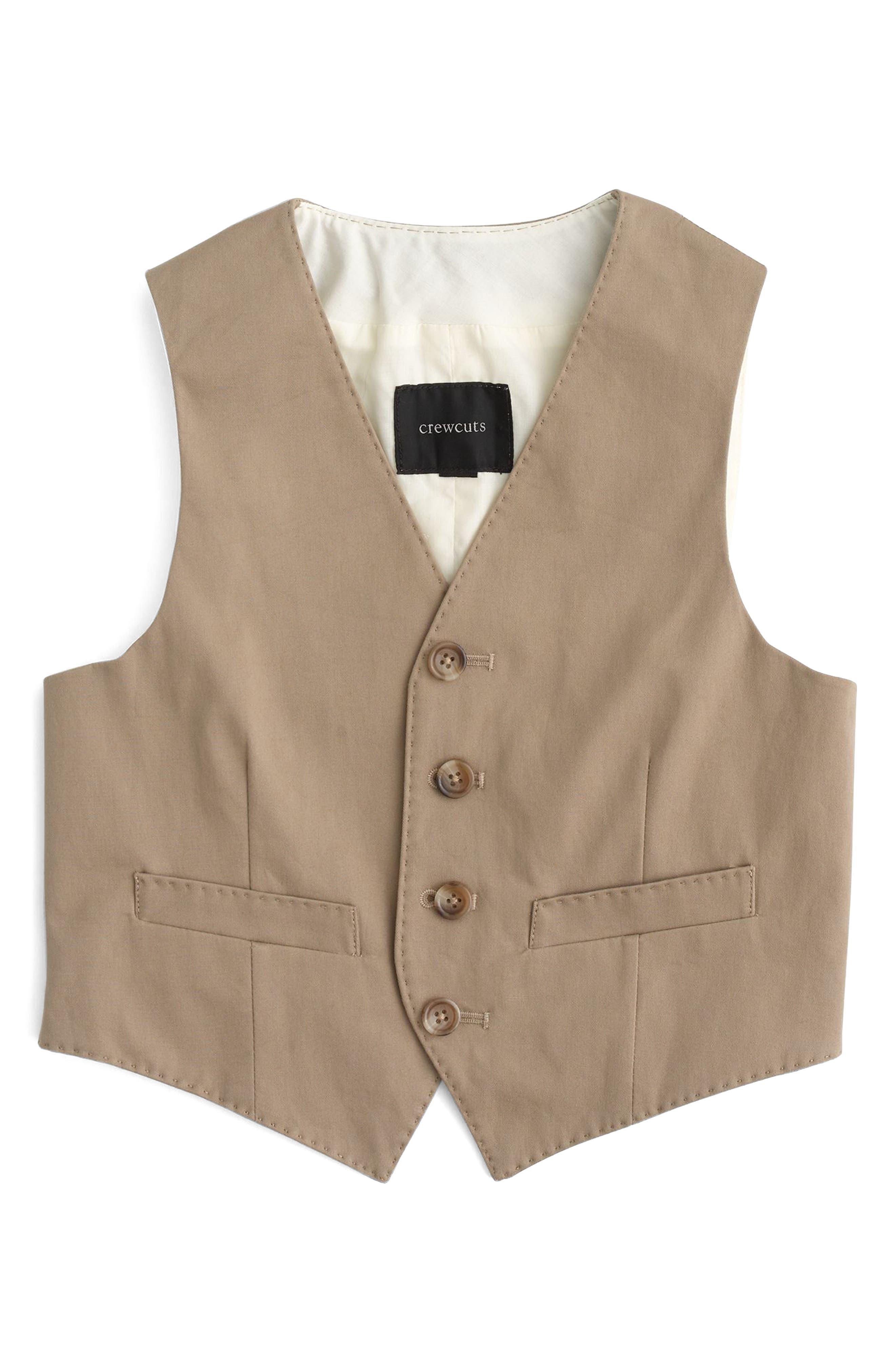 Ludlow Suit Vest,                         Main,                         color, Khaki