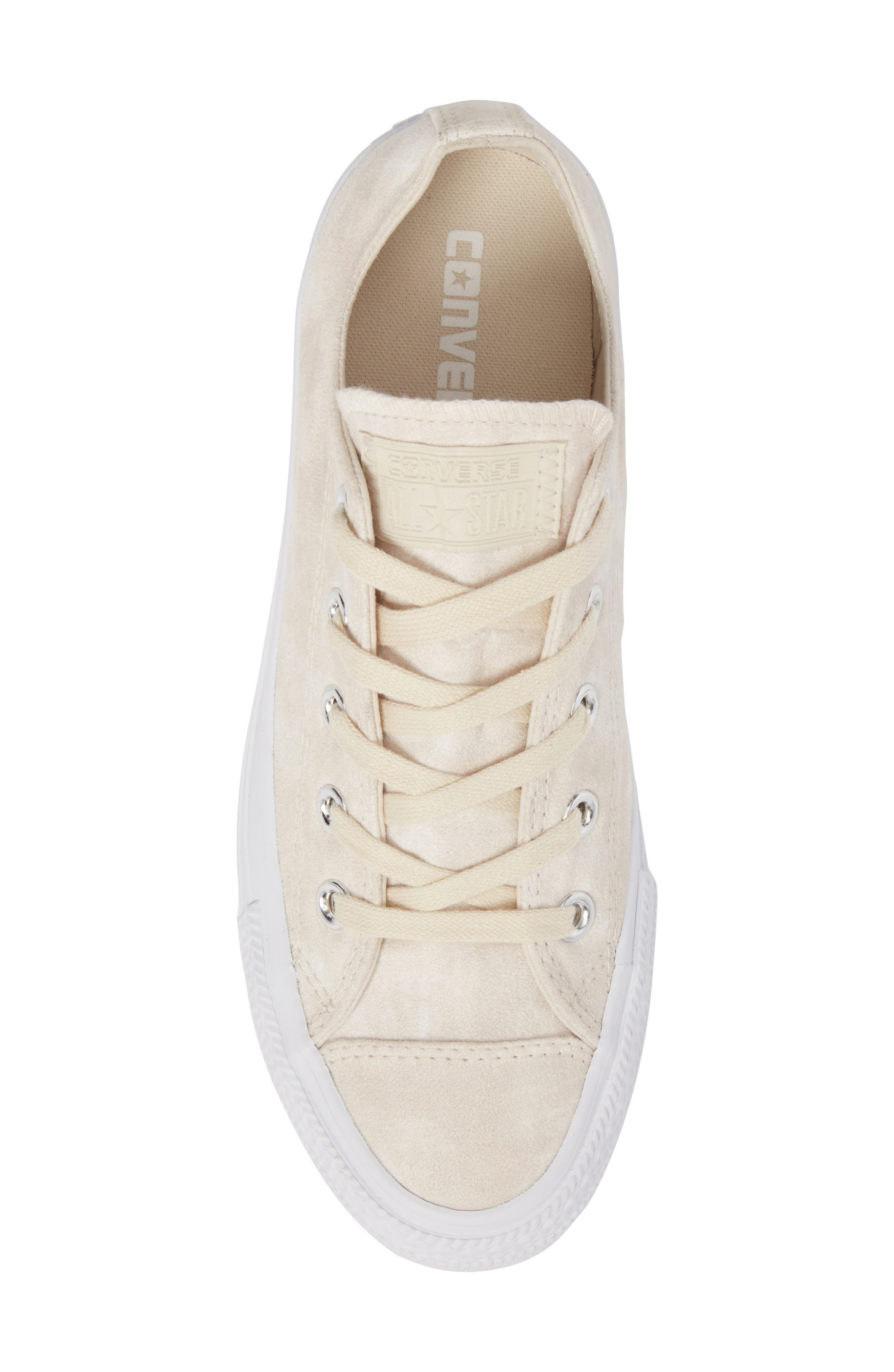 Chuck Taylor<sup>®</sup> All Star<sup>®</sup> Peached Low Top Sneaker,                             Alternate thumbnail 5, color,                             Driftwood