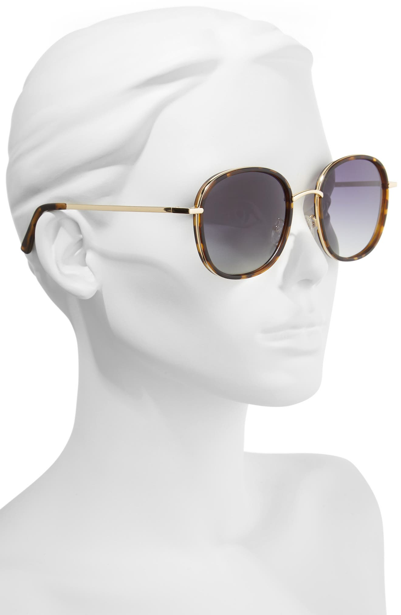 Layla 58mm Sunglasses,                             Alternate thumbnail 2, color,                             Matte Tort