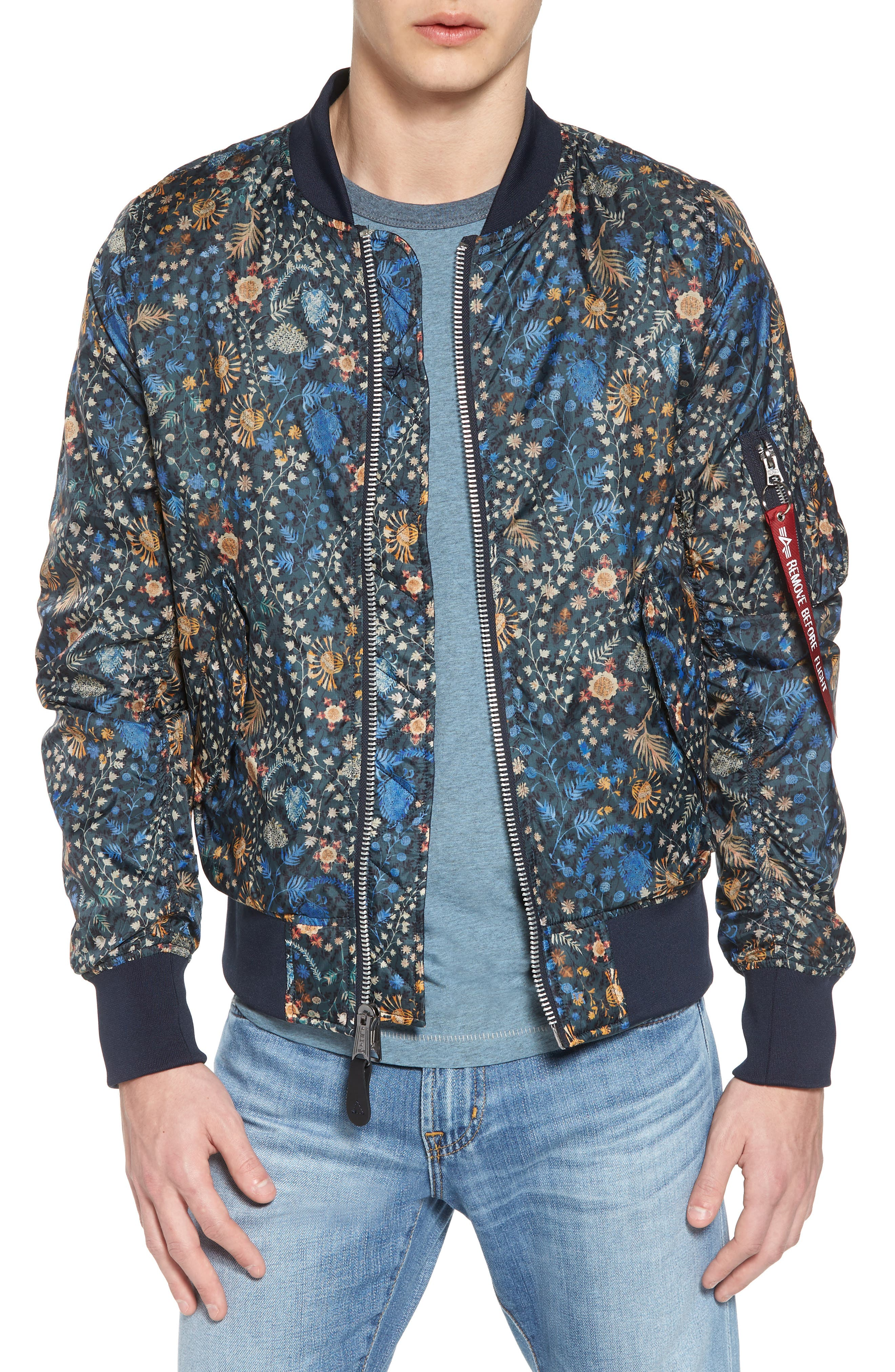 Liberty X L-2B Scout Bomber Jacket,                             Main thumbnail 1, color,                             Croquette Meadow
