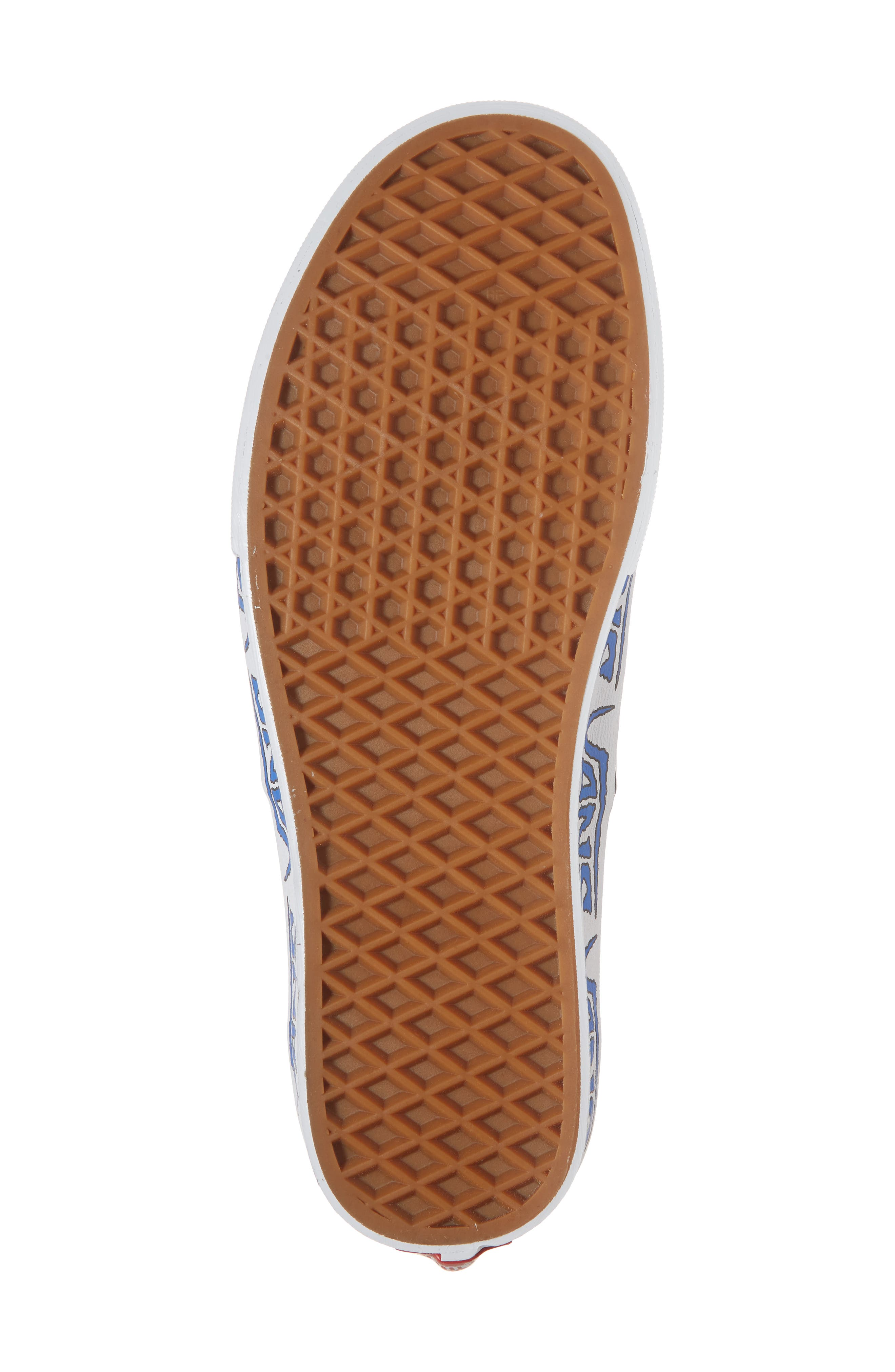 Authentic Sketch Sidewall Sneaker,                             Alternate thumbnail 6, color,                             True White/ Victoria Blue