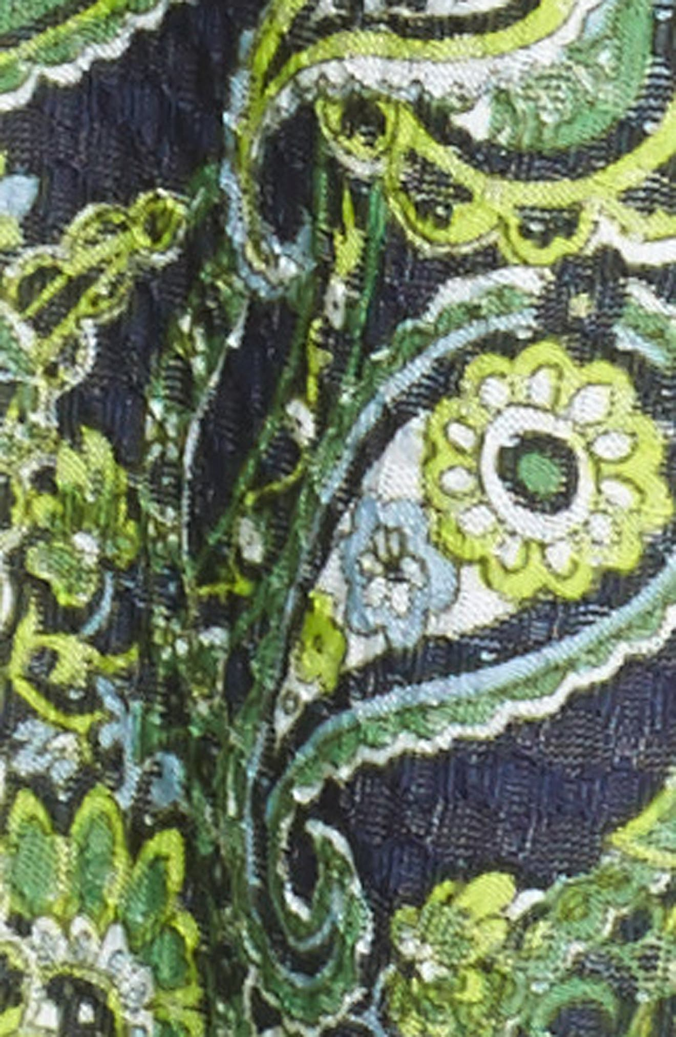 Pais Tier Sleeve Blouse,                             Alternate thumbnail 5, color,                             True Navy/ Green Apple Mu