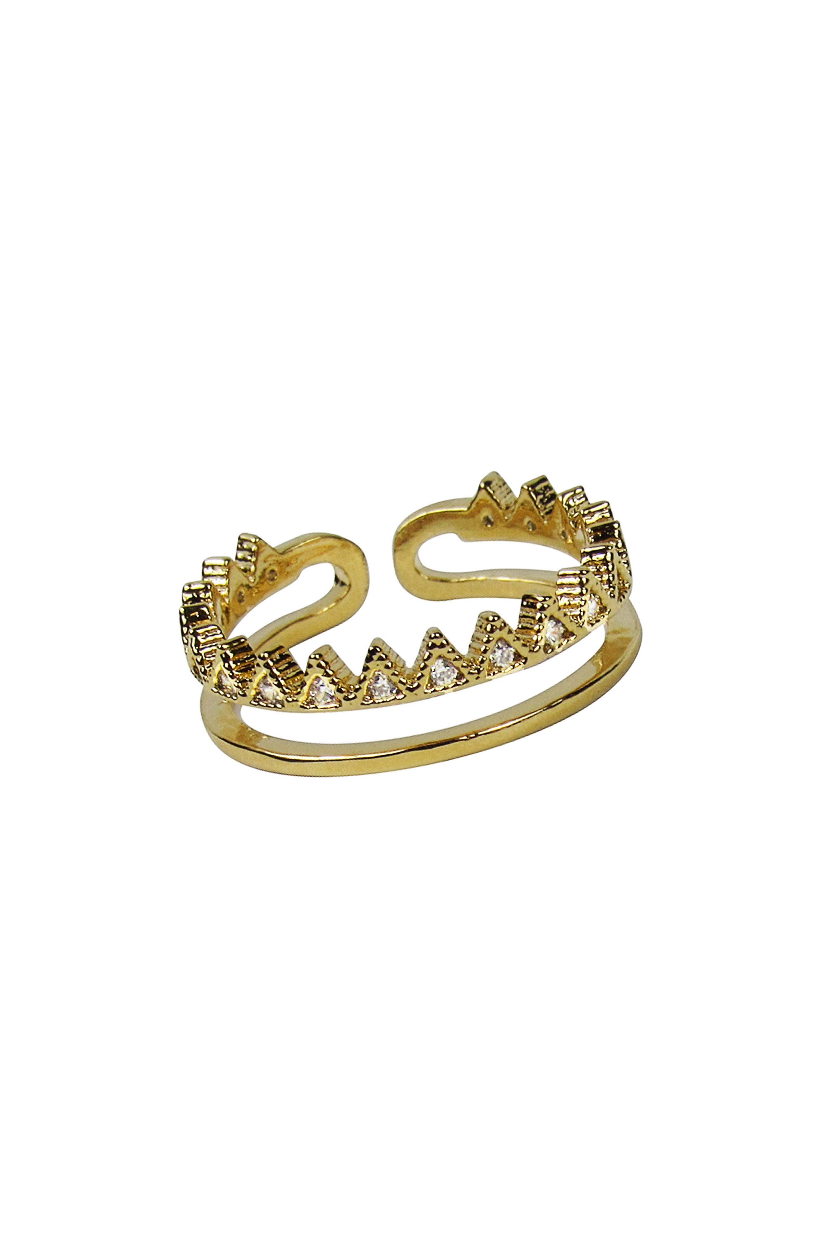 Royalty Open Ring,                         Main,                         color, Gold
