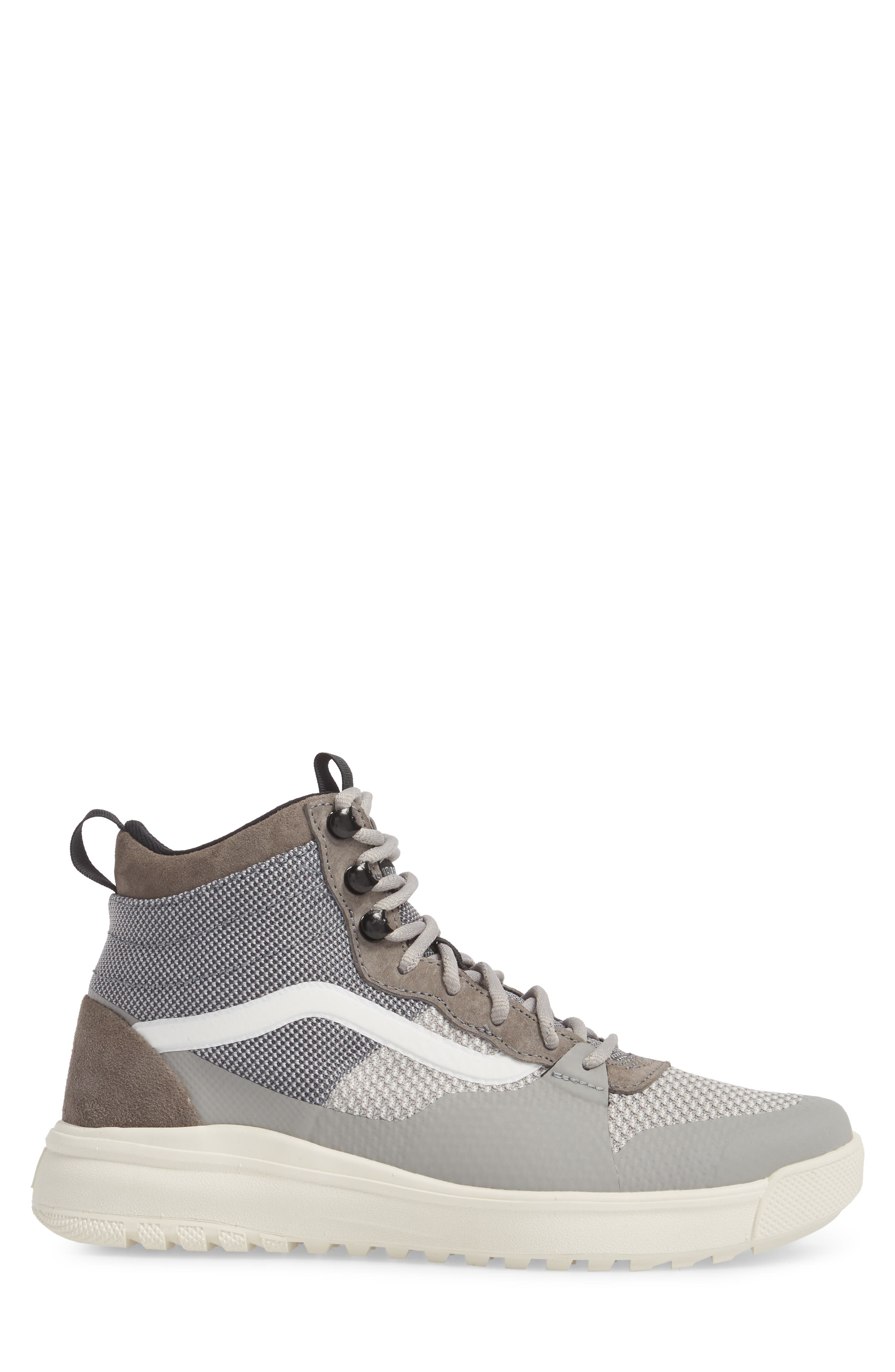 UltraRange DX High Top Sneaker,                             Alternate thumbnail 3, color,                             Pewter/ Drizzle