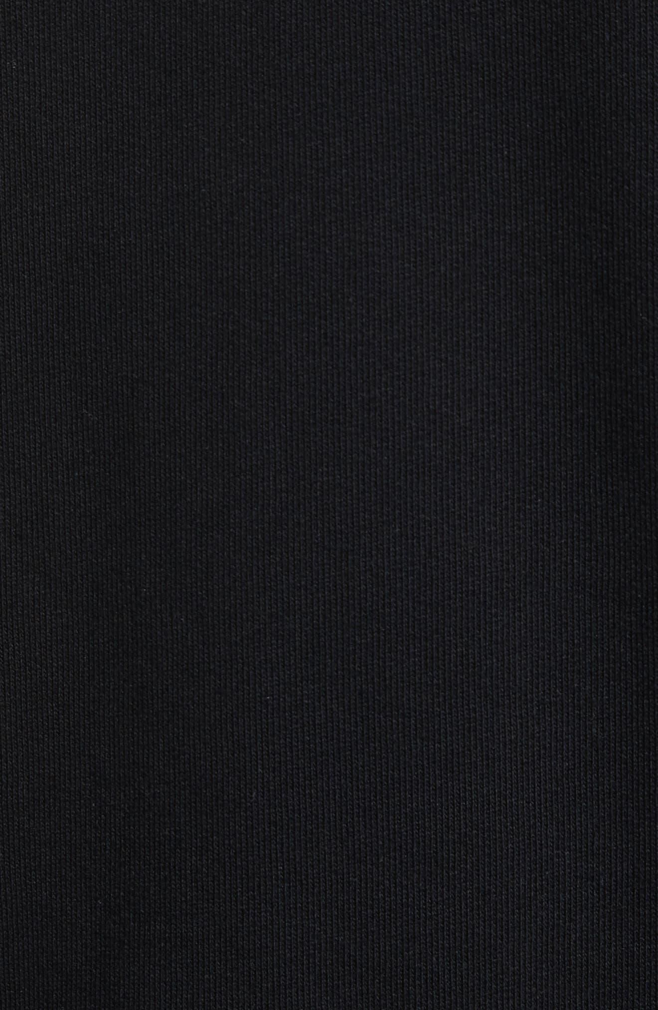 Mesh Star Crewneck Sweatshirt,                             Alternate thumbnail 5, color,                             Black