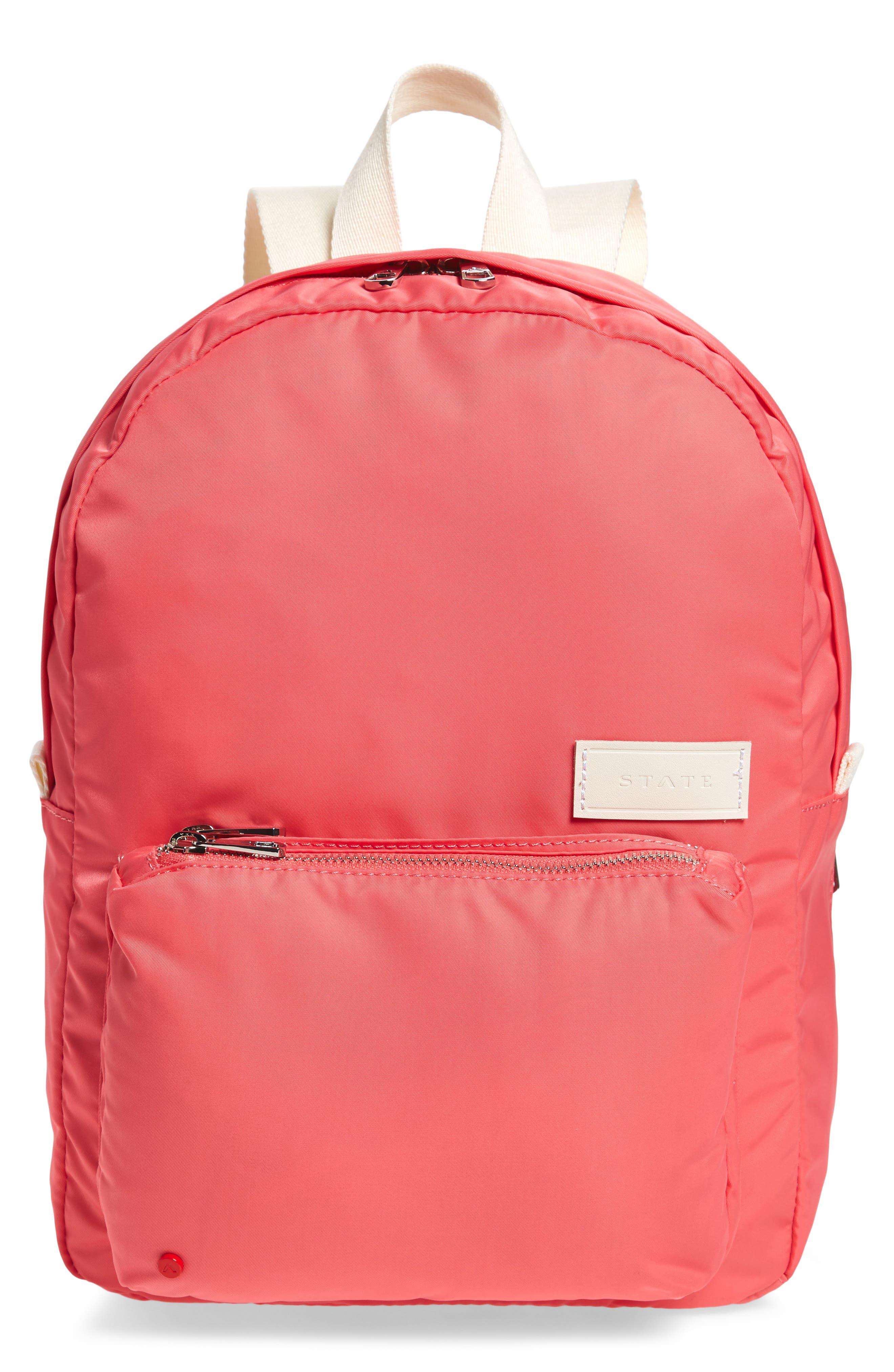 The Heights Mini Lorimer Nylon Backpack,                             Main thumbnail 1, color,                             Poppy