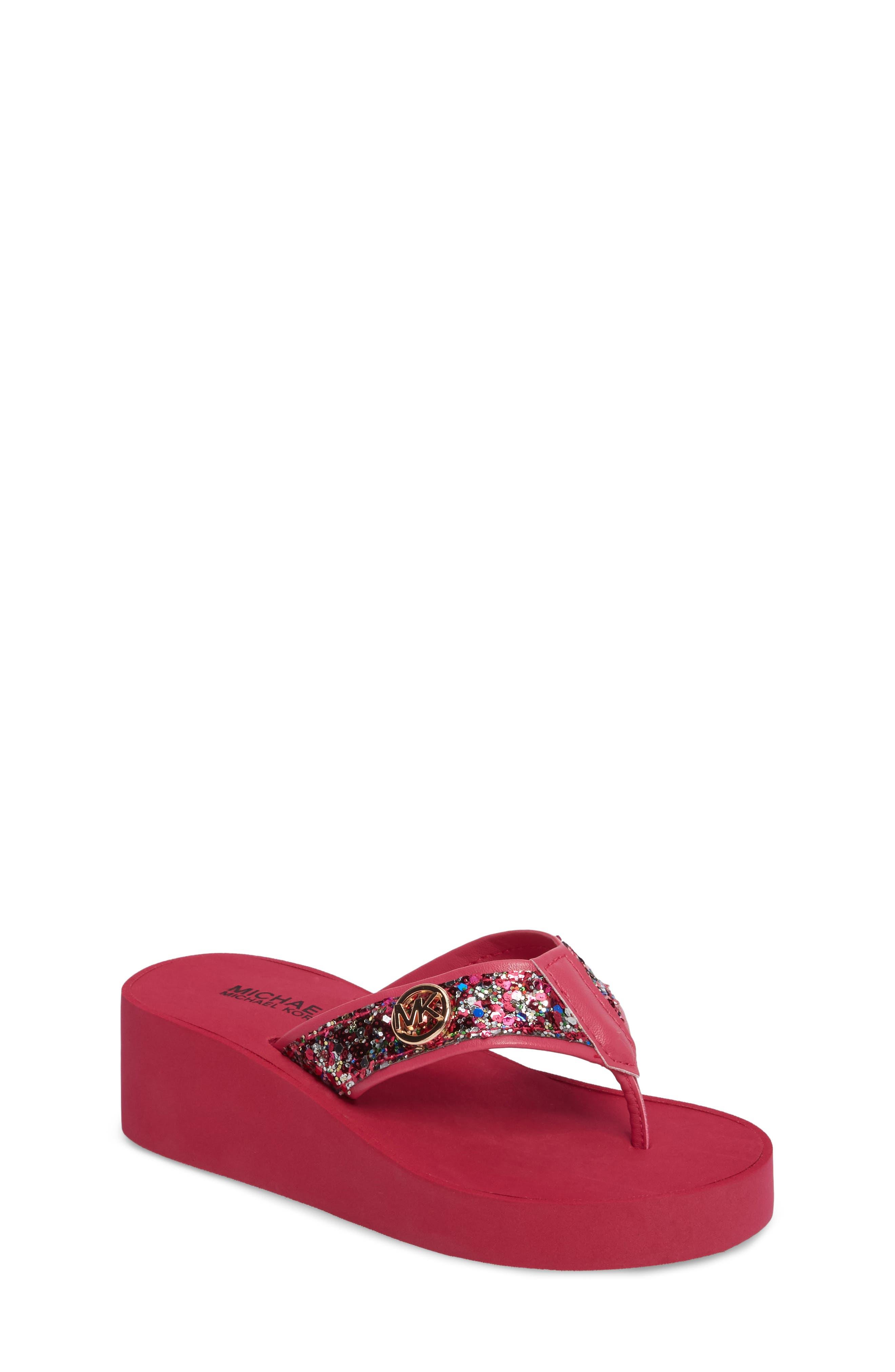 MICHAEL Michael Kors Glitter Wedge Flip Flop (Toddler, Little Kid & Big Kid)