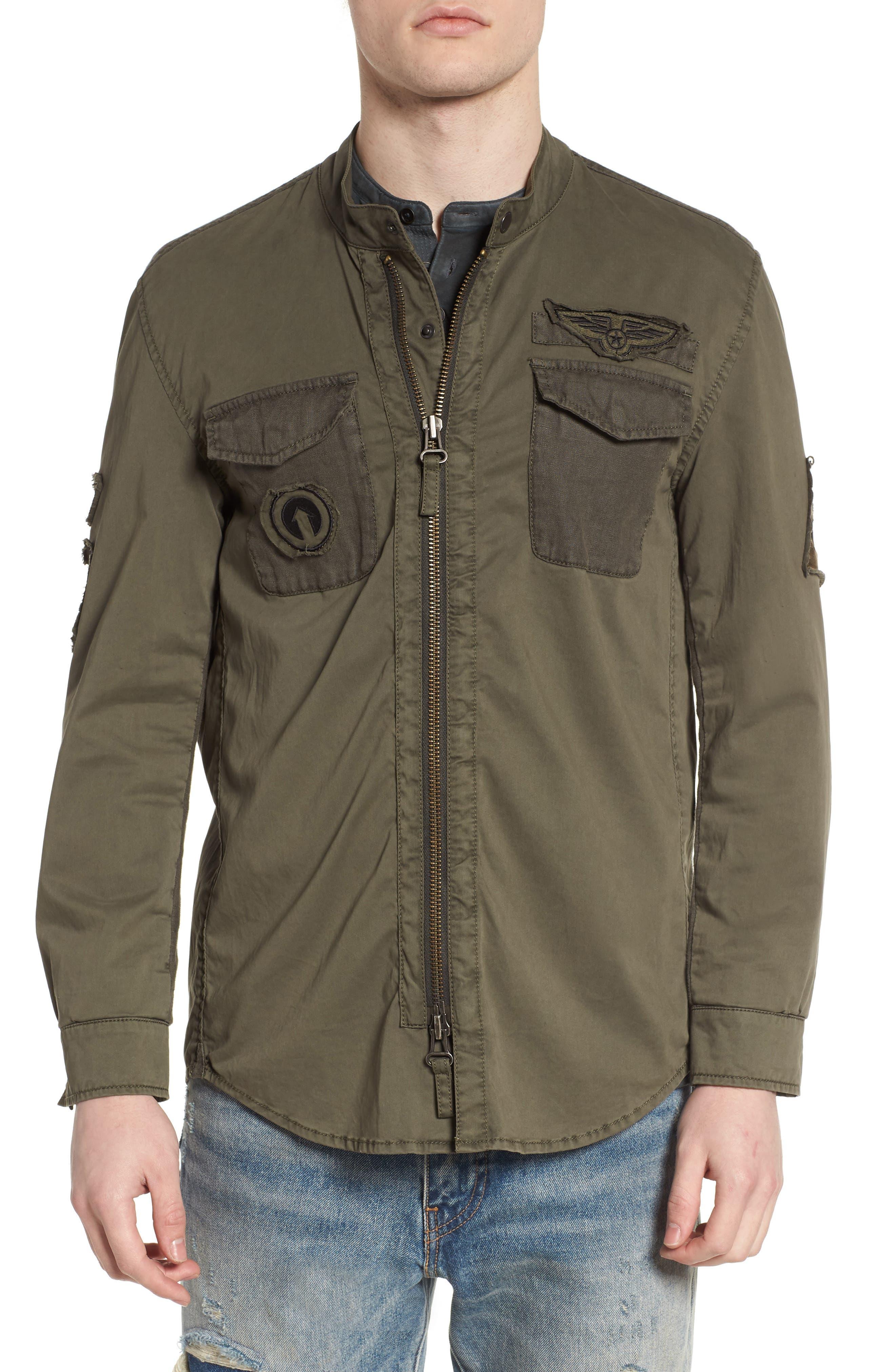 Shirt Jacket,                             Alternate thumbnail 4, color,                             Olive