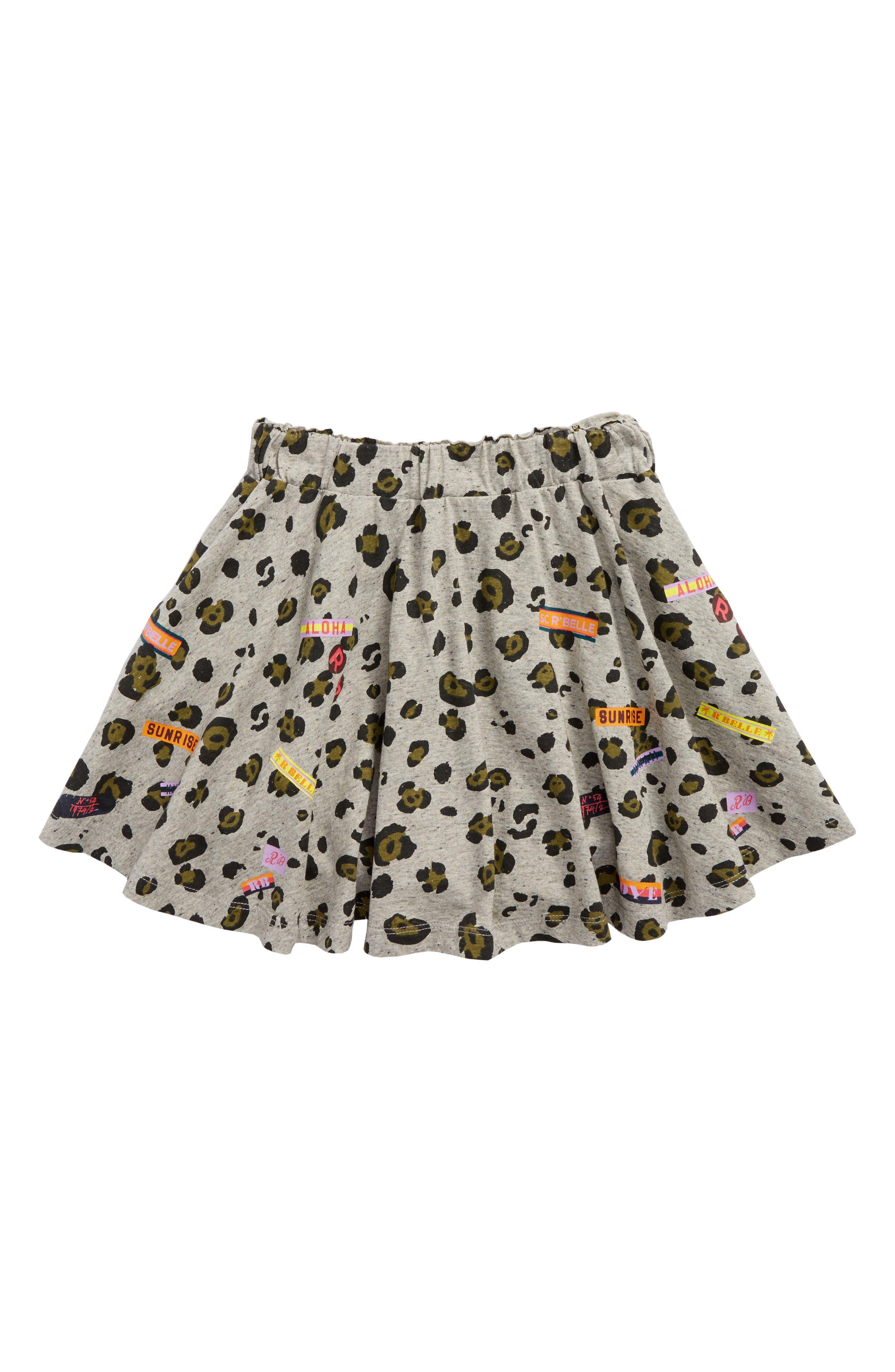 Scotch R'Belle Print Jersey Skirt,                             Main thumbnail 1, color,                             596 Q Animal