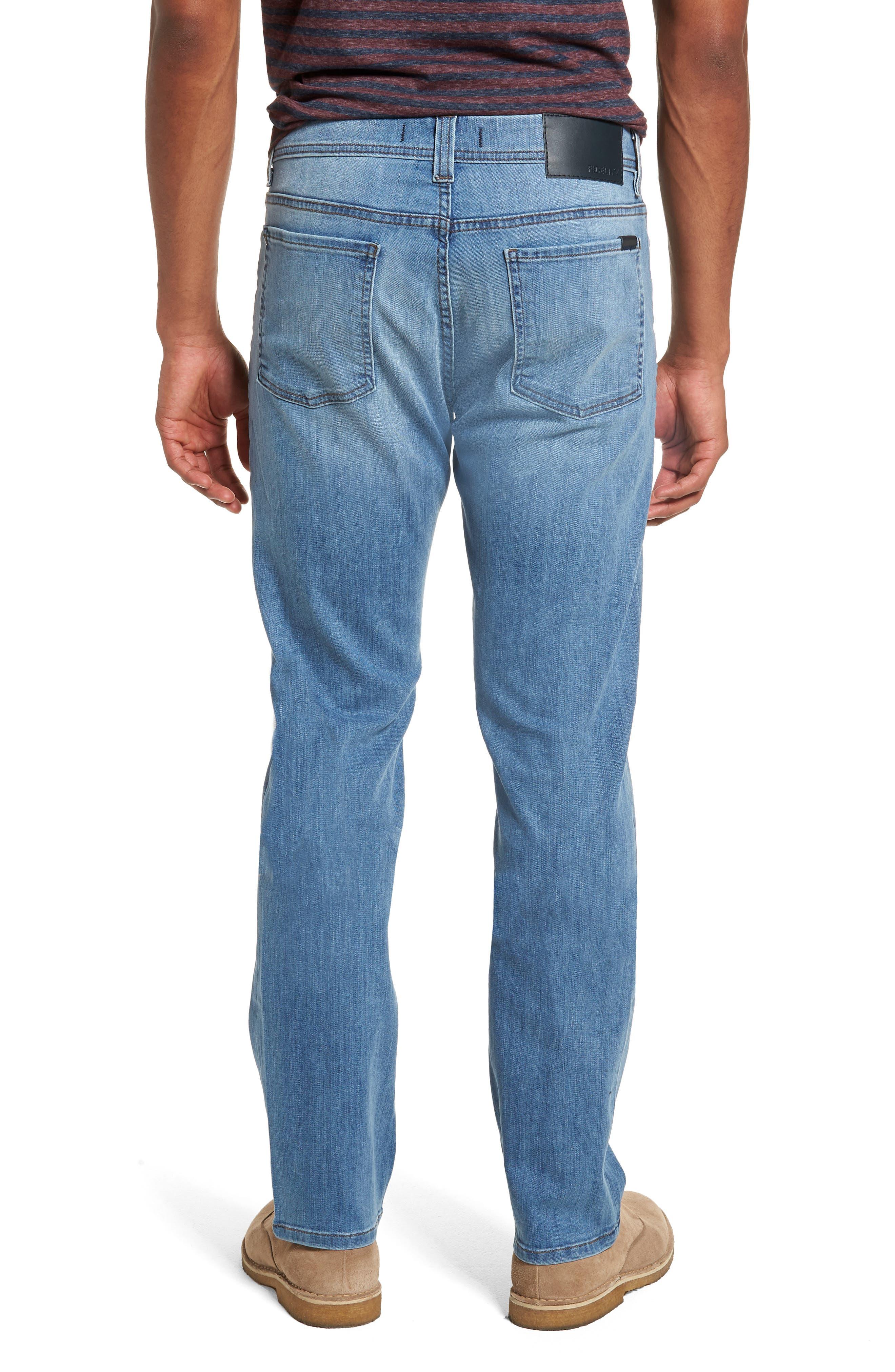 Jimmy Slim Straight Fit Jeans,                             Alternate thumbnail 2, color,                             Brixton Blue