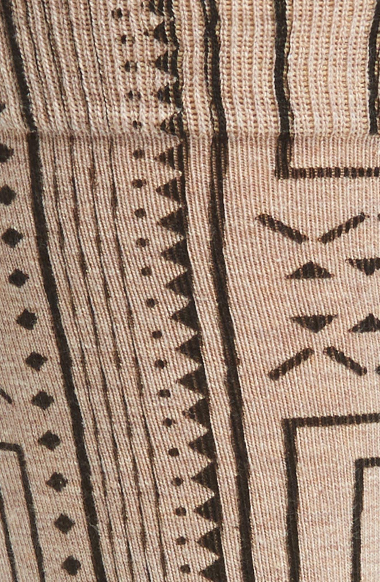Geometric Socks,                             Alternate thumbnail 2, color,                             Medium Roast