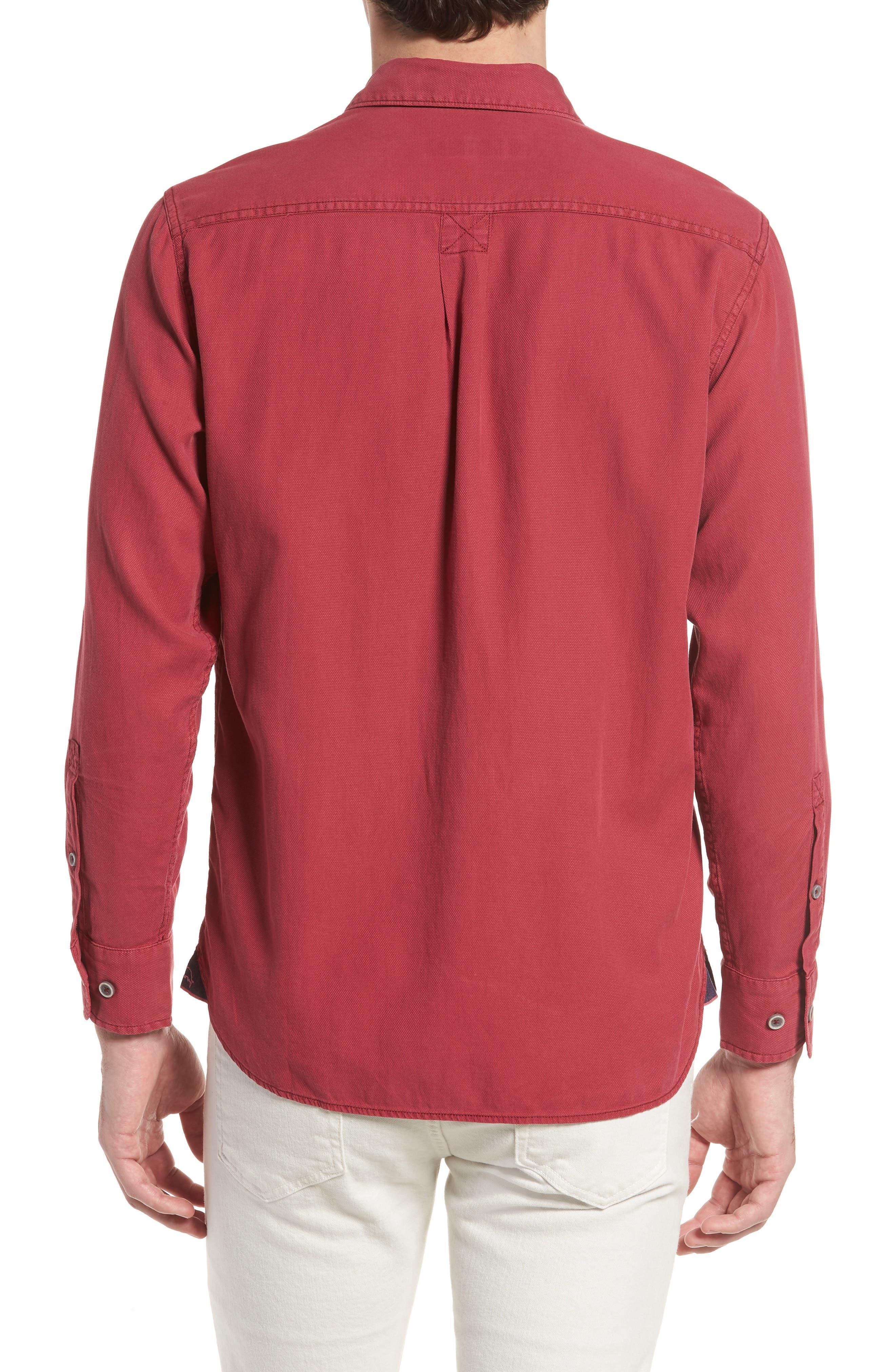 Alternate Image 2  - Tommy Bahama Dobby Dylan Sport Shirt