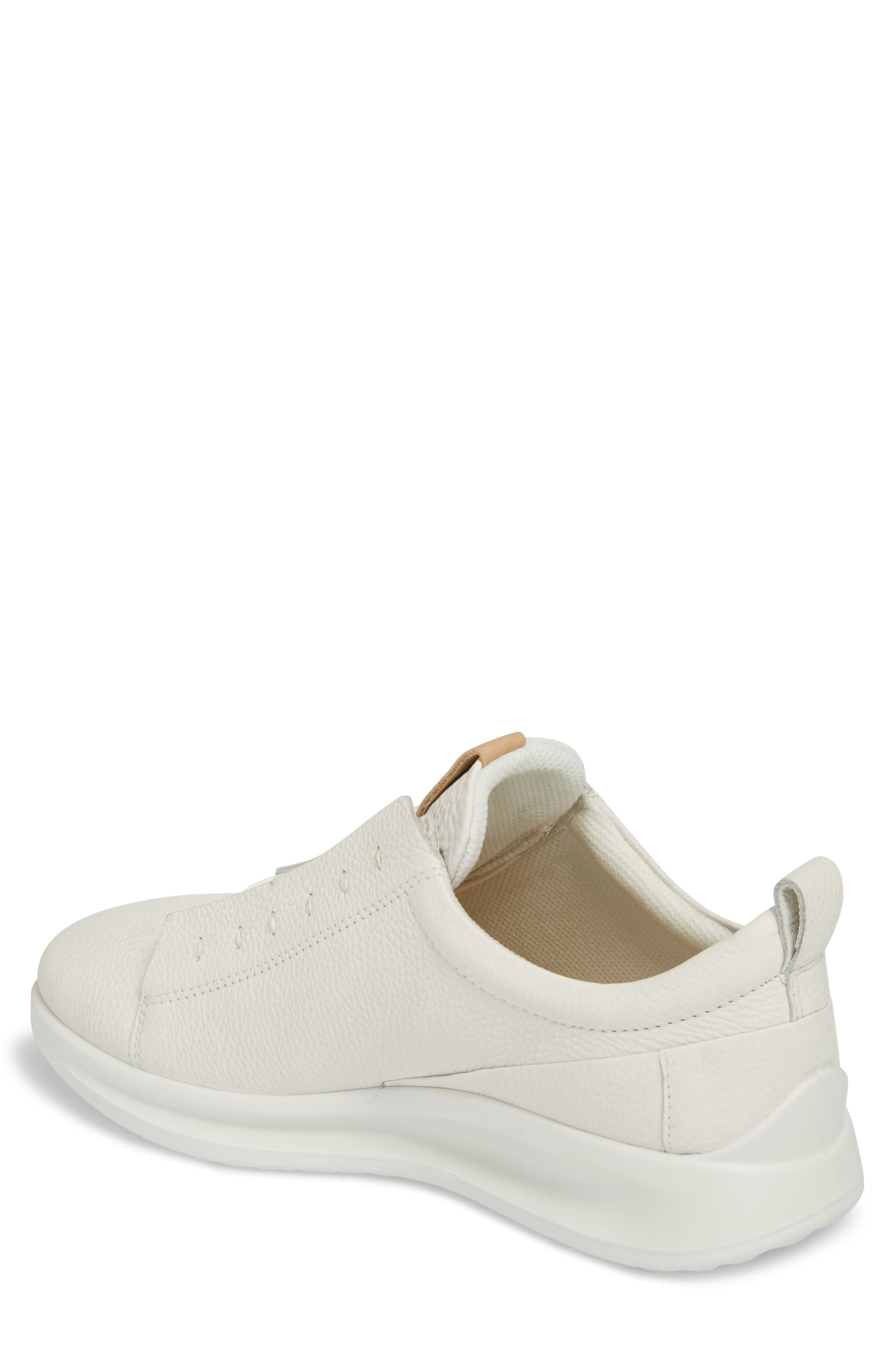 Aquet Low Top Sneaker,                             Alternate thumbnail 2, color,                             White Leather