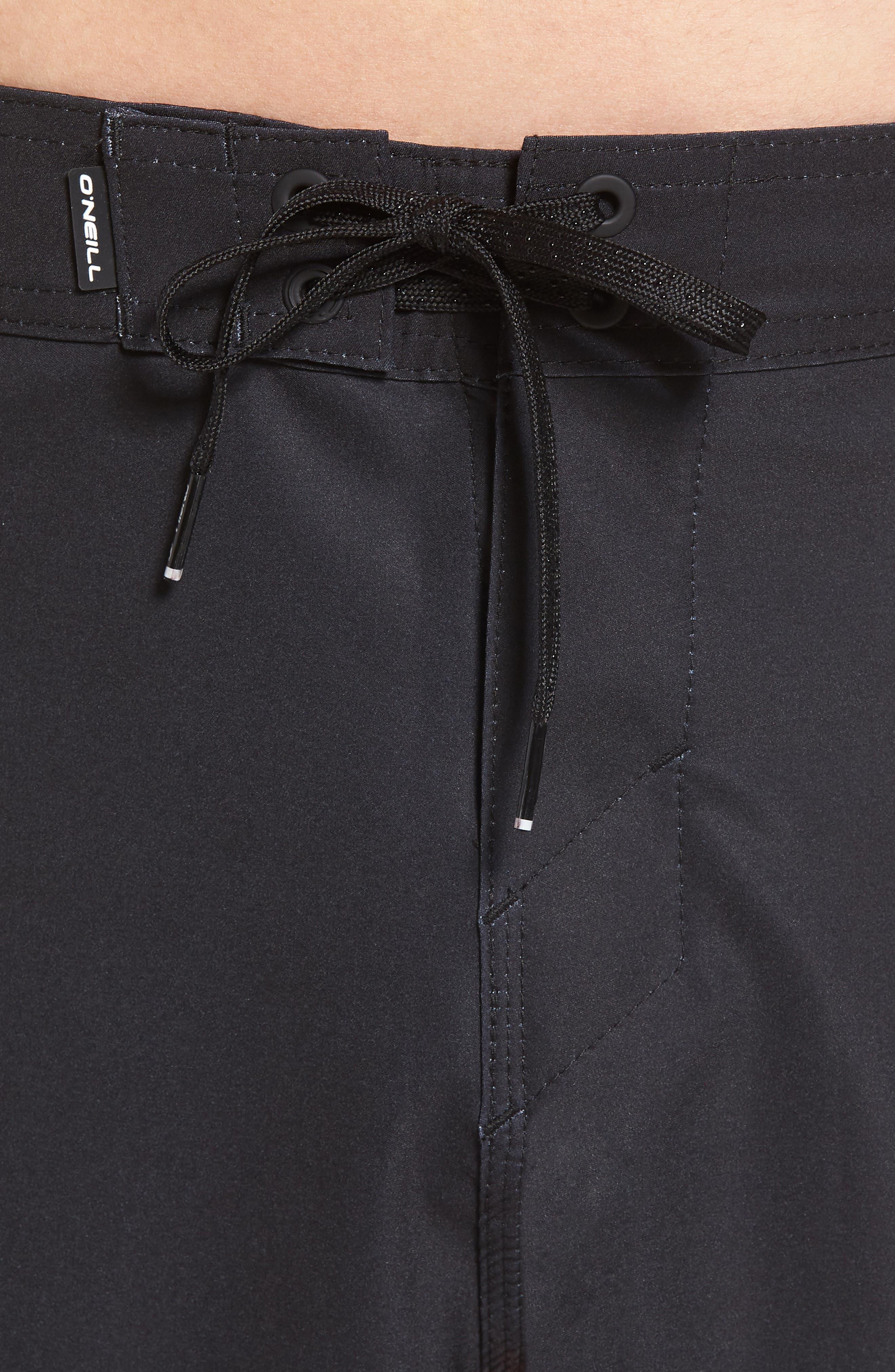 Hyperfreak Drippin' Board Shorts,                             Alternate thumbnail 5, color,                             Black