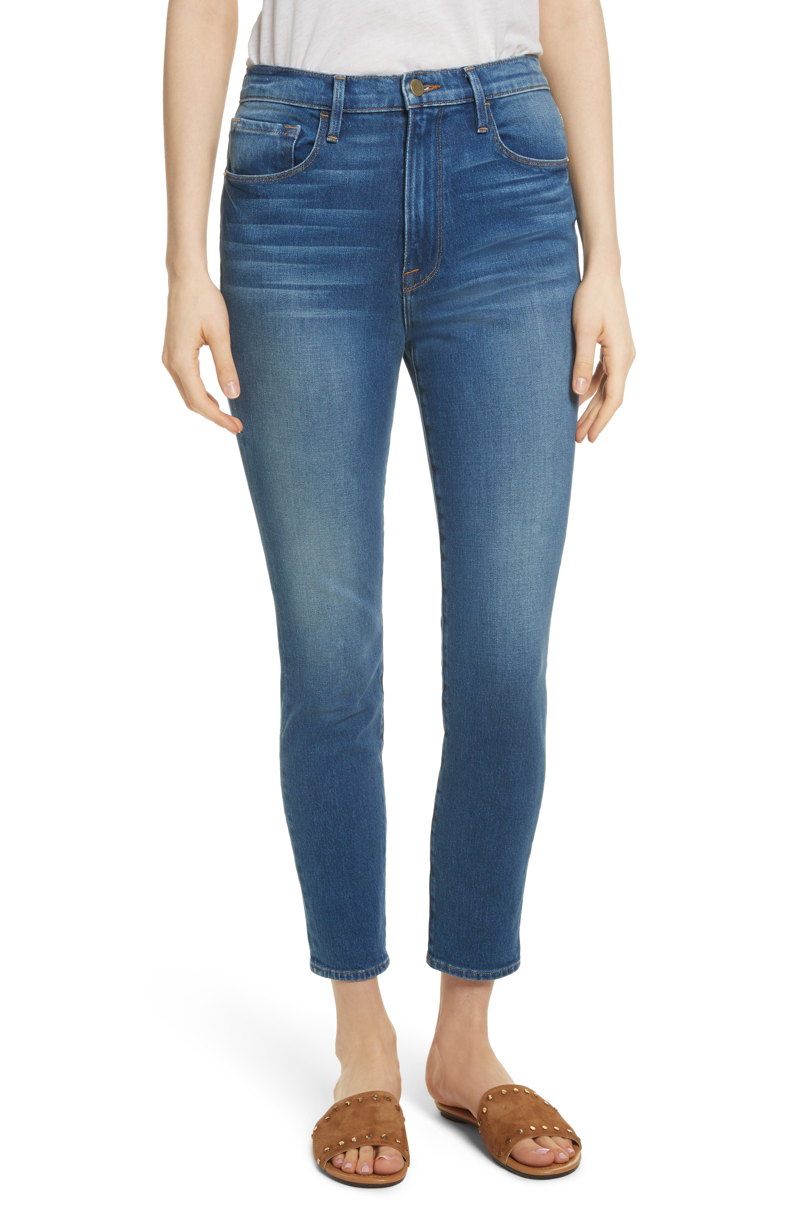 Ali High Waist Skinny Cigarette Jeans,                         Main,                         color, Olympus