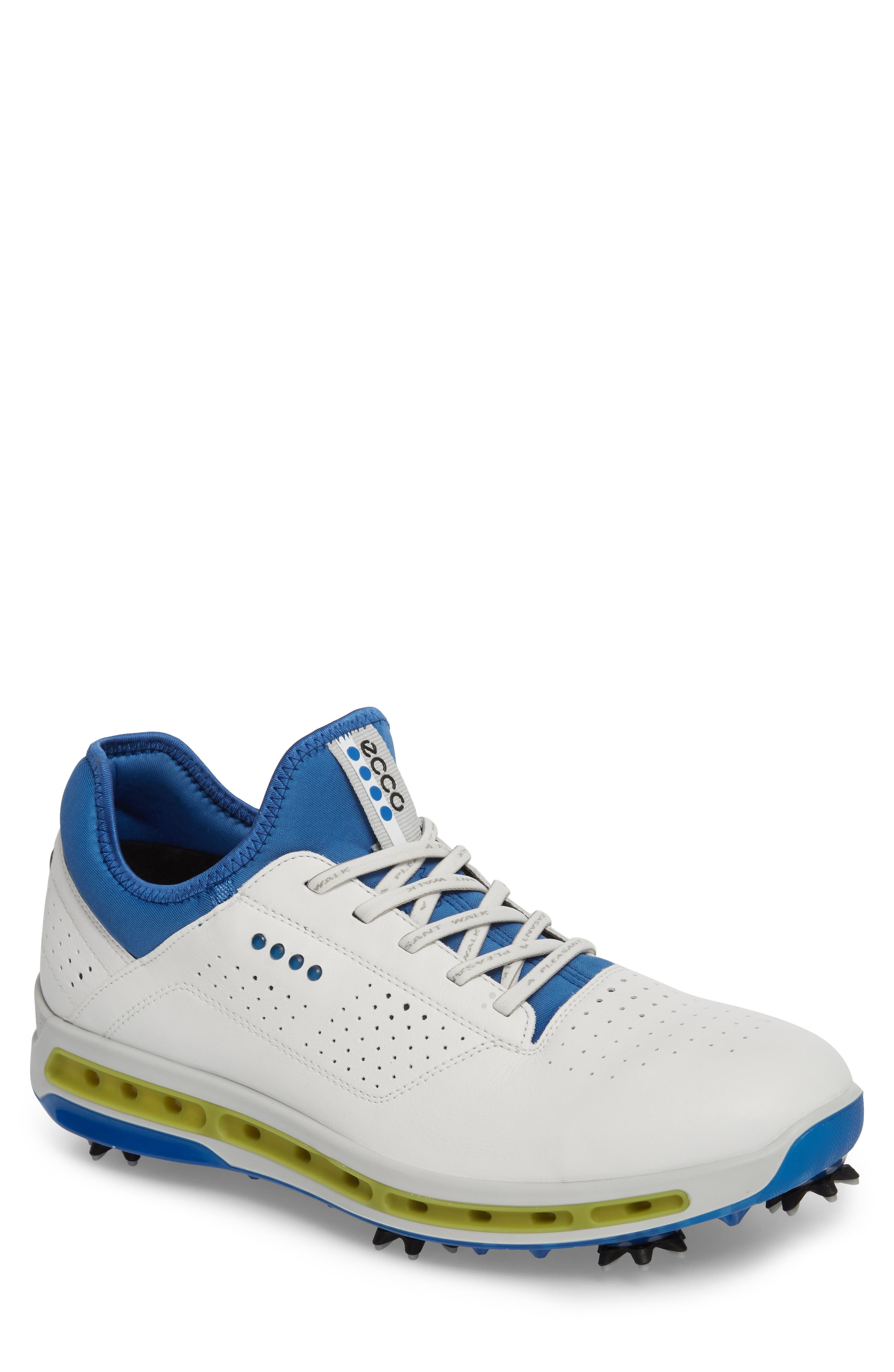 Cool 18 Gore-Tex Golf Shoe,                             Main thumbnail 1, color,                             White Leather