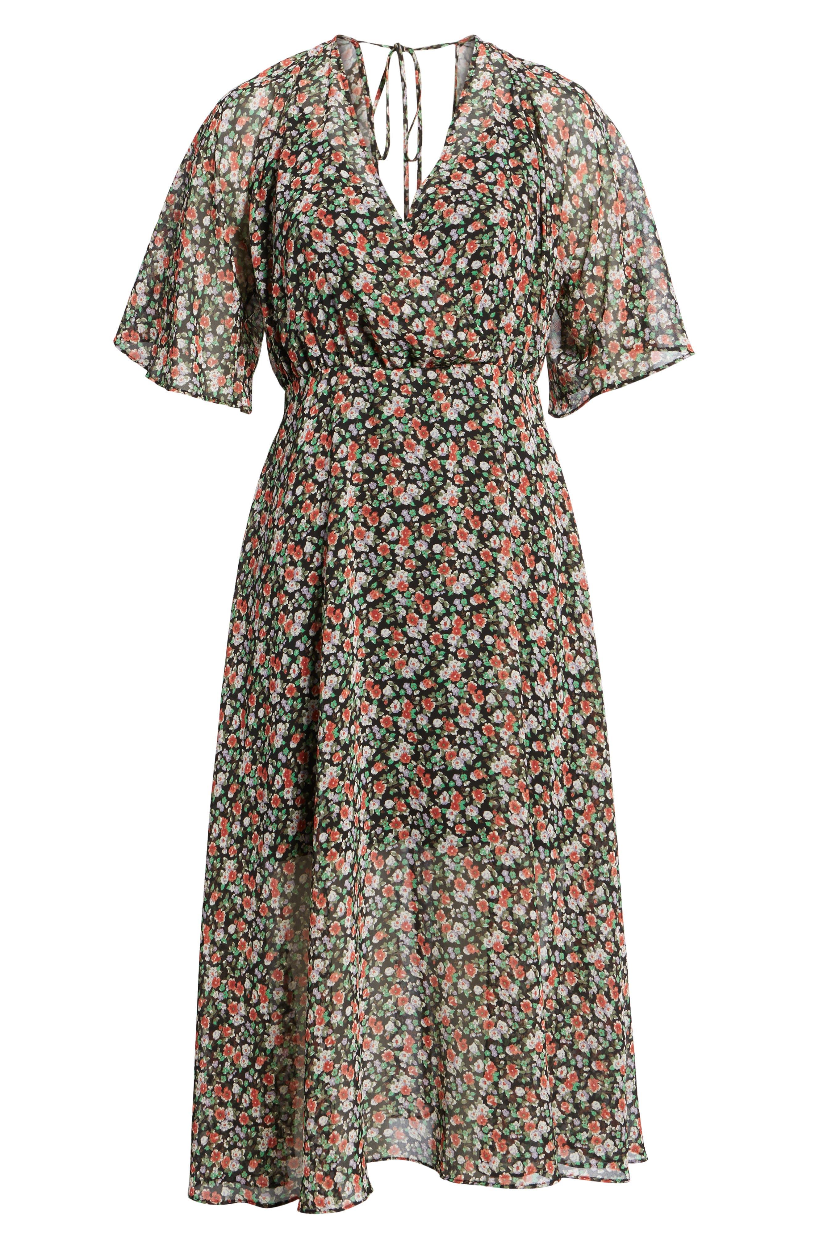 Ali Dress,                             Alternate thumbnail 6, color,                             Black Multi
