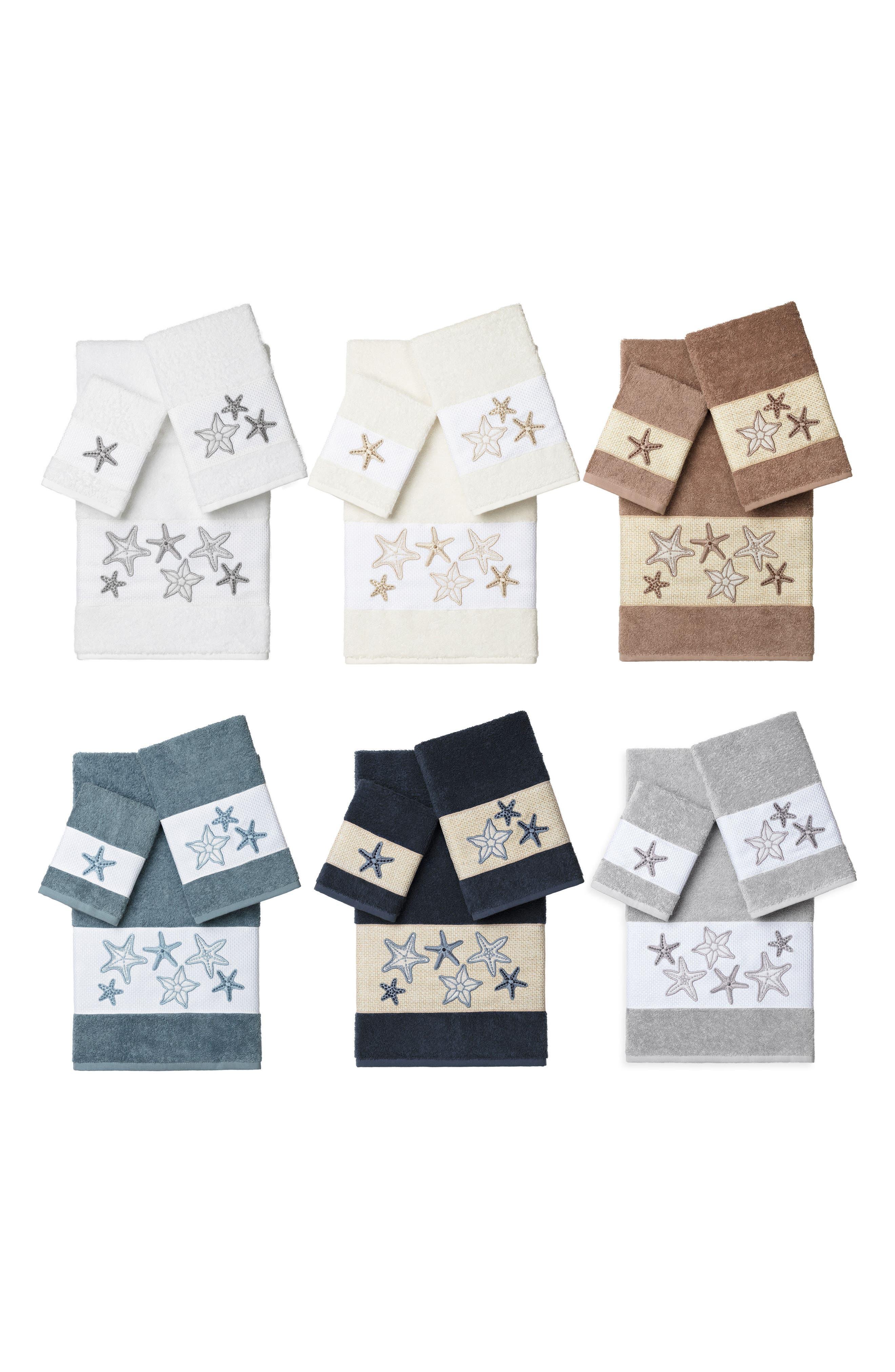 Lydia 3-Piece Turkish Cotton Towel Set,                             Alternate thumbnail 3, color,                             Cream